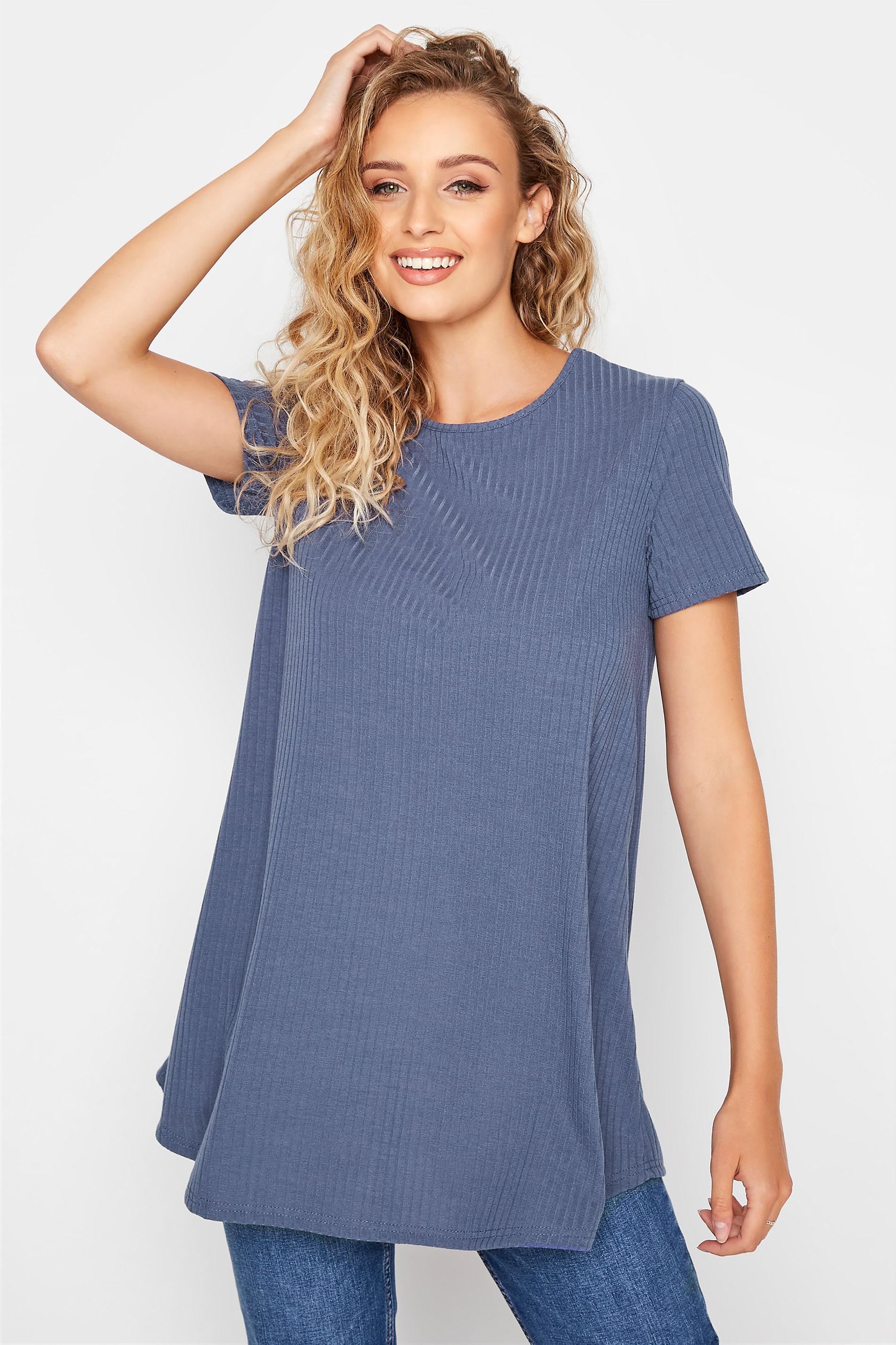 LTS Denim Blue Swing Ribbed T-Shirt_A.jpg