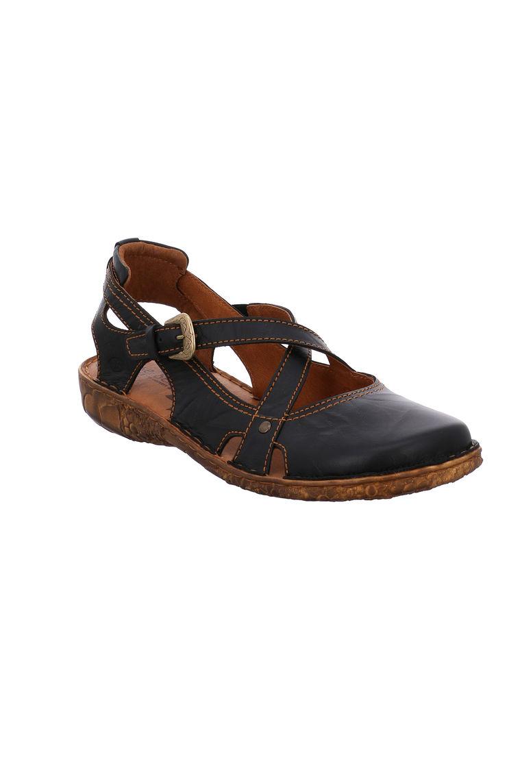Black Josef Seibel Rosalie Leather Shoe