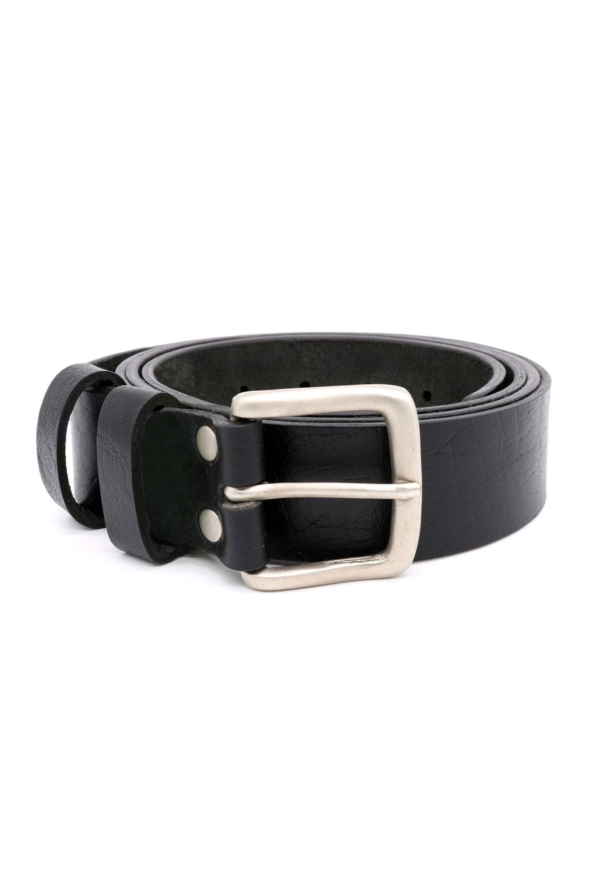 D555 Black Leather Belt