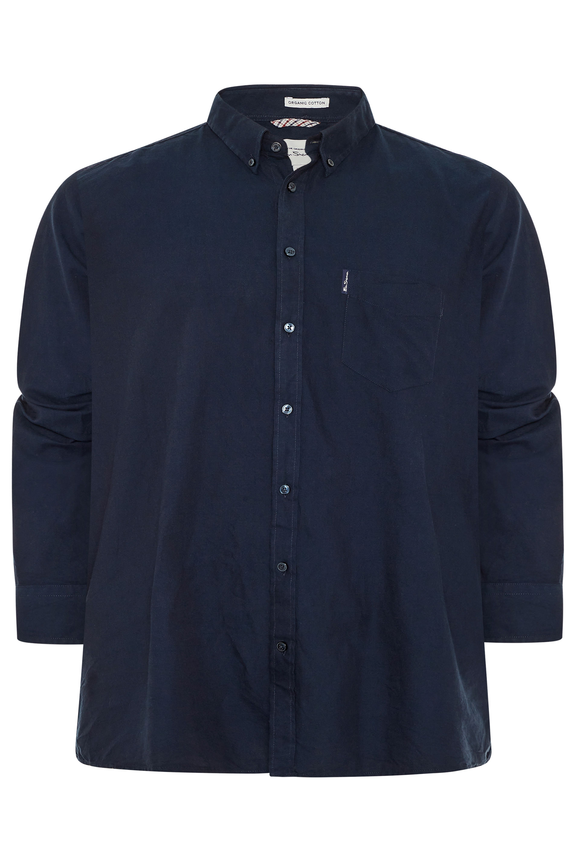 BEN SHERMAN Navy Signature Long Sleeve Oxford Shirt