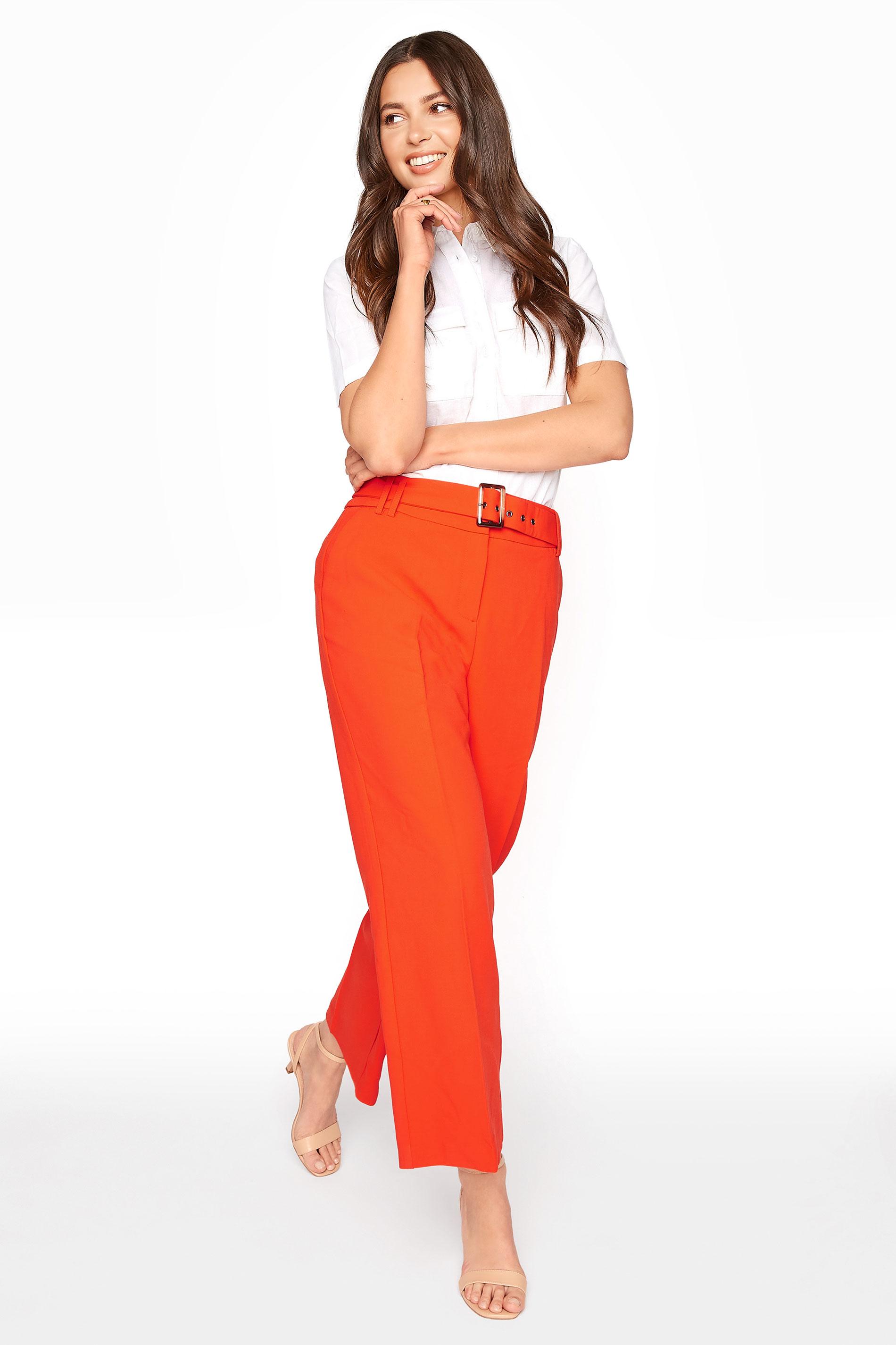 Orange Wide Leg Belted Culottes_A.jpg