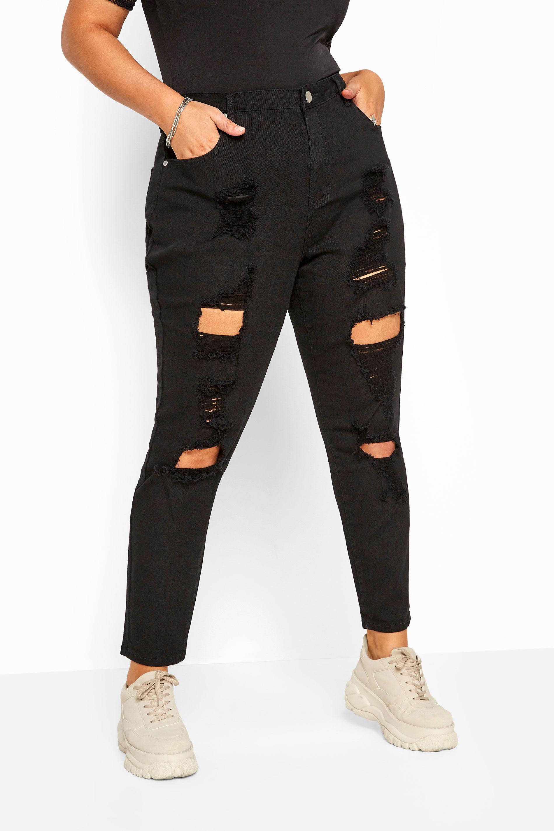 Black Distressed Ripped Skinny Stretch AVA Jeans_142461B.jpg