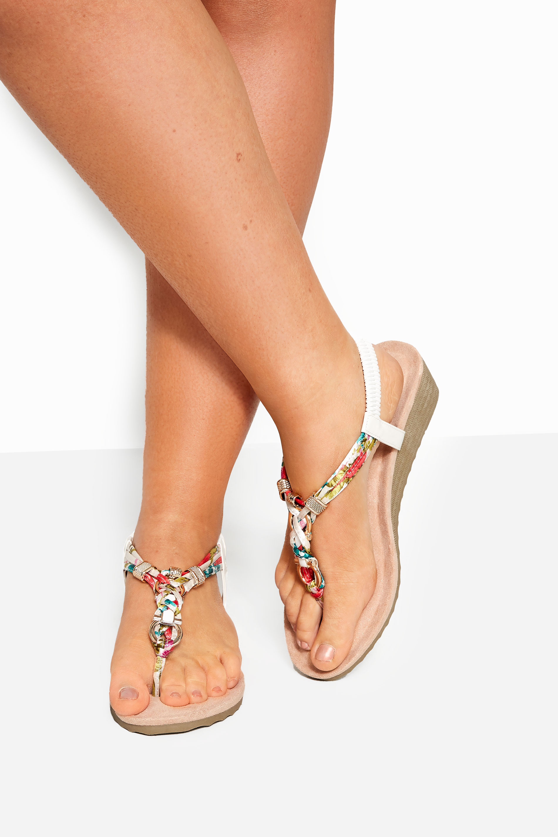 White Twist Gold Tone Heeled Sandals In Extra Wide Fit_154303A1.jpg