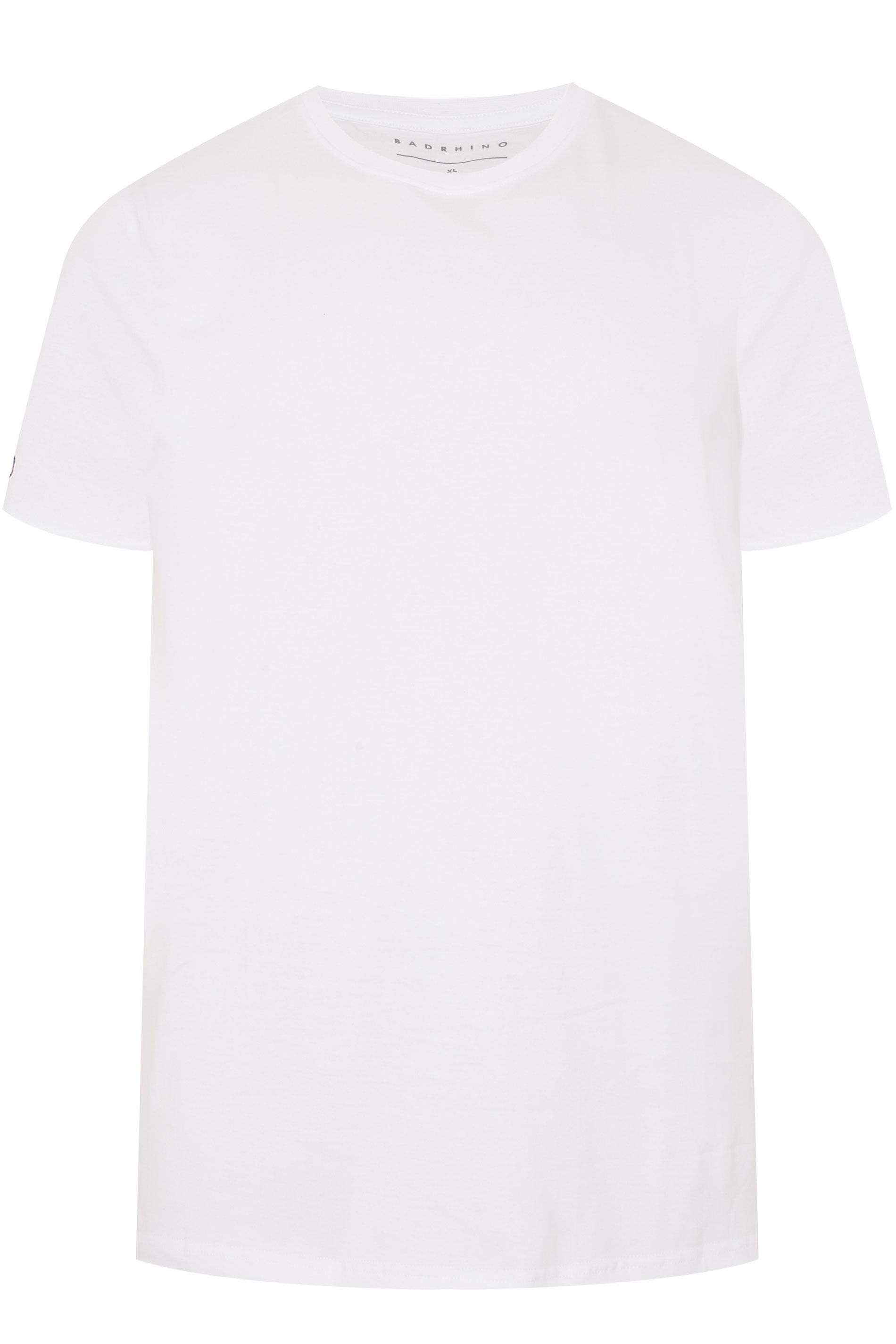 BadRhino White Embroidered Logo T-Shirt