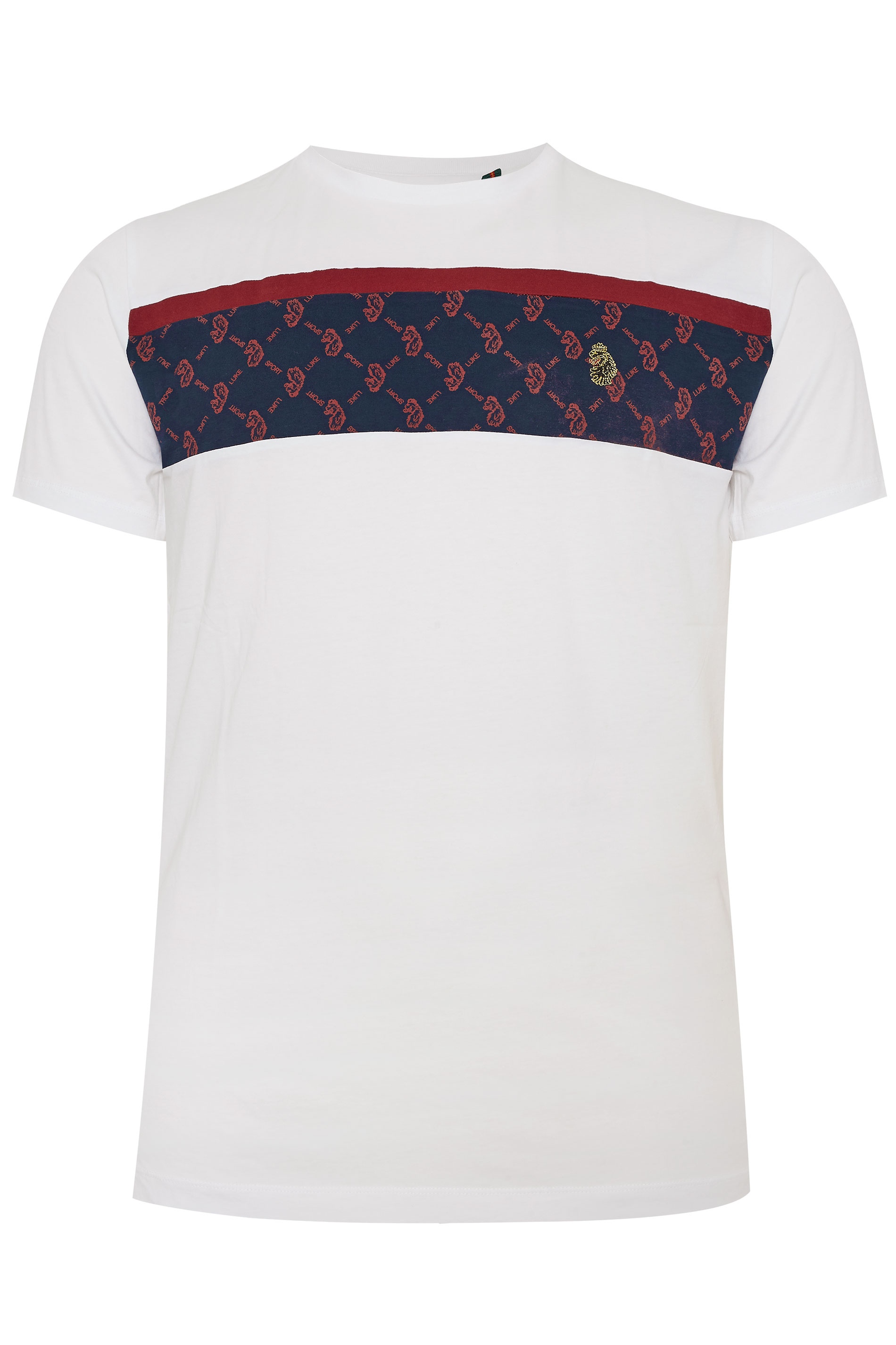 LUKE 1977 - Sport Lions t-shirt van katoen in wit