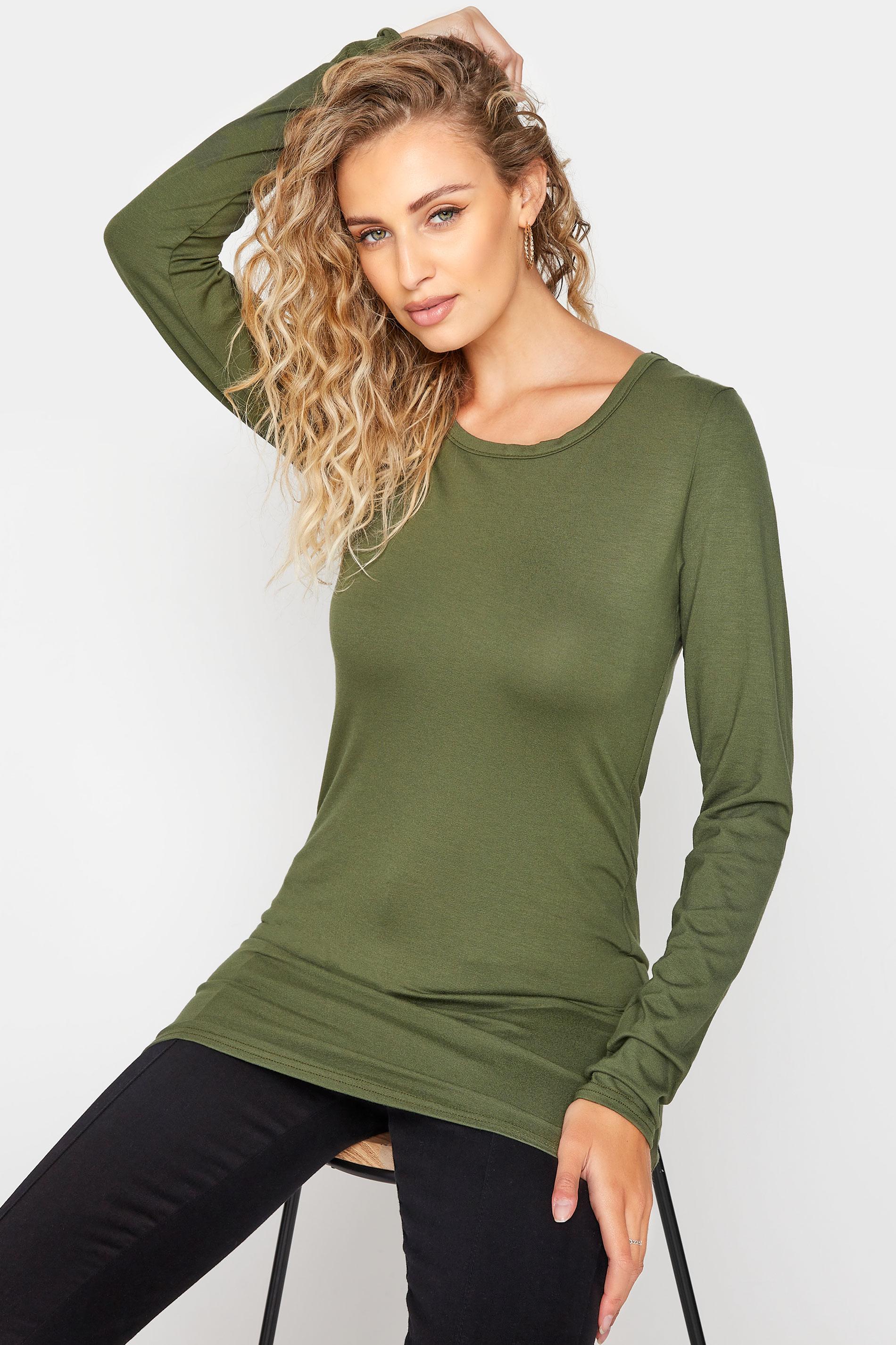 LTS Khaki Long Sleeve T-Shirt_A.jpg
