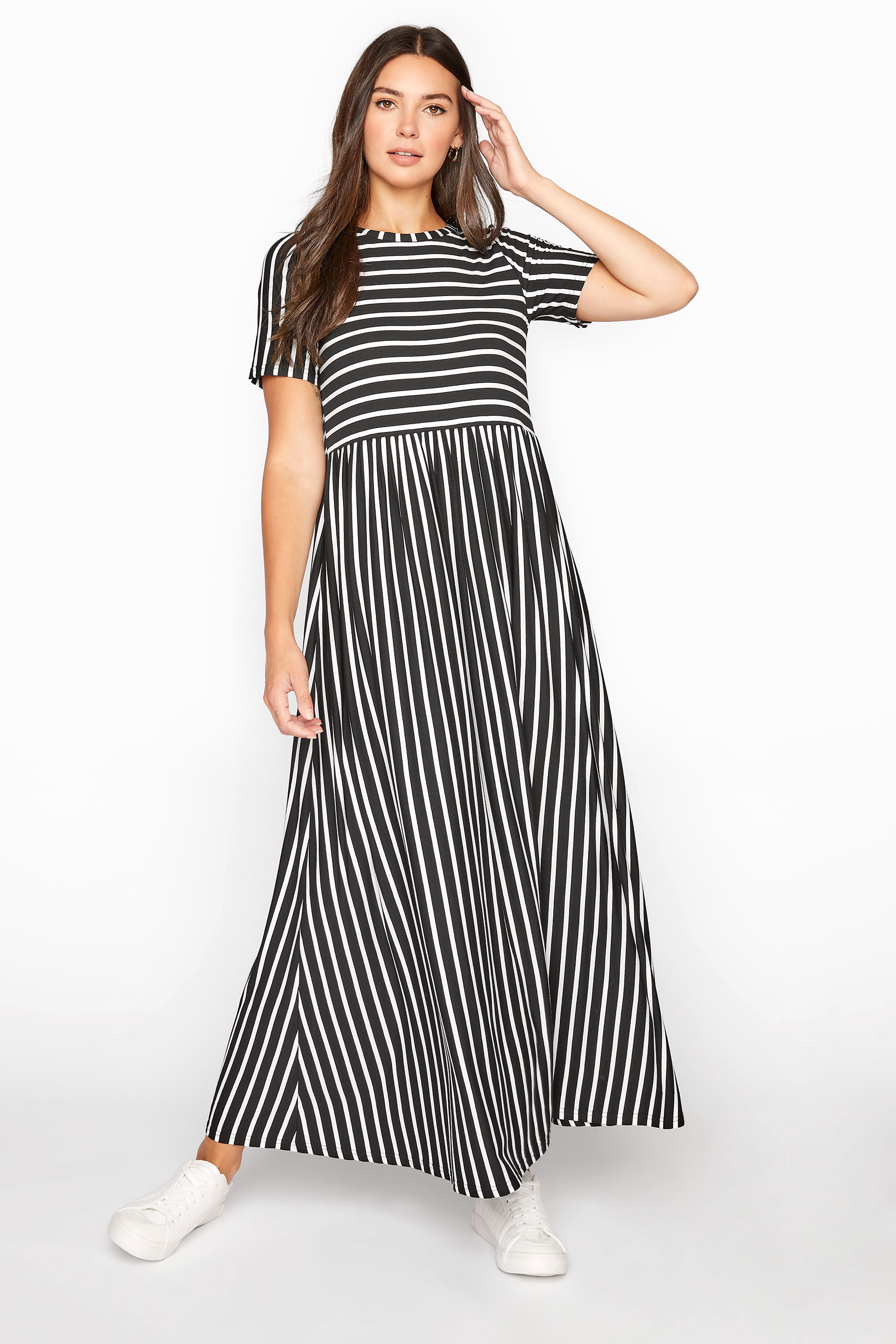 LTS Black Stripe Midi Dress_A.jpg