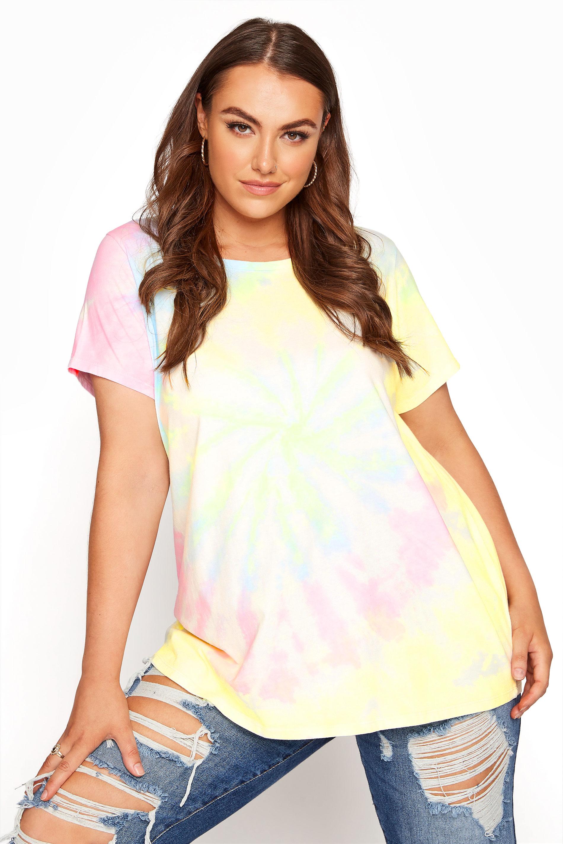 Mehrfarbiges Batik T-Shirt