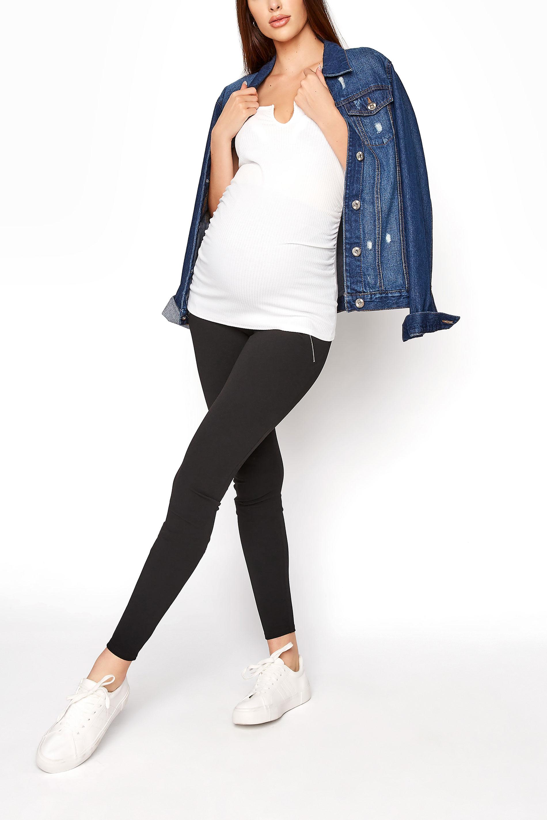 LTS Maternity Black Zip Side Leggings