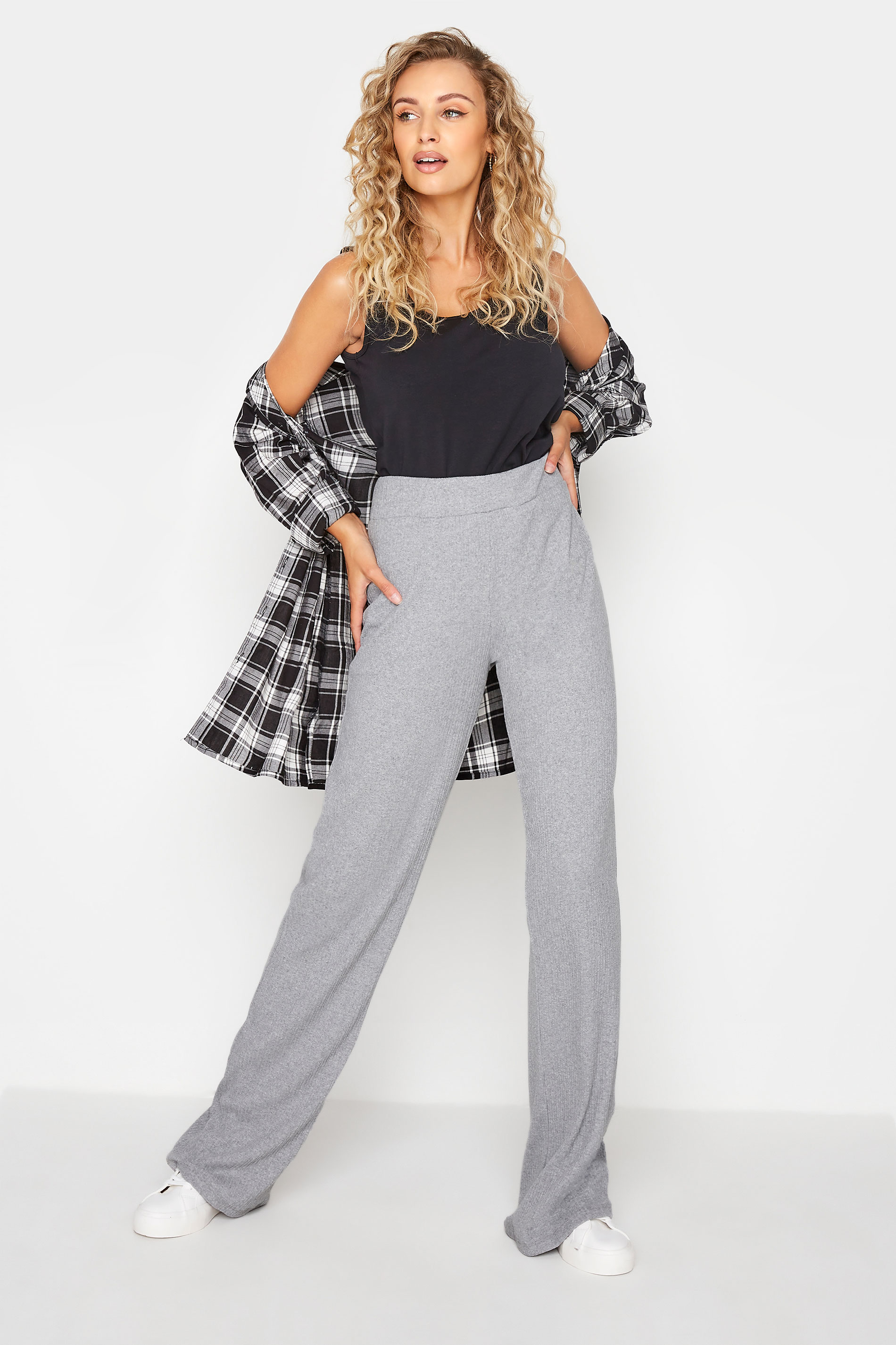 LTS Grey Ribbed Wide Leg Trousers_A.jpg