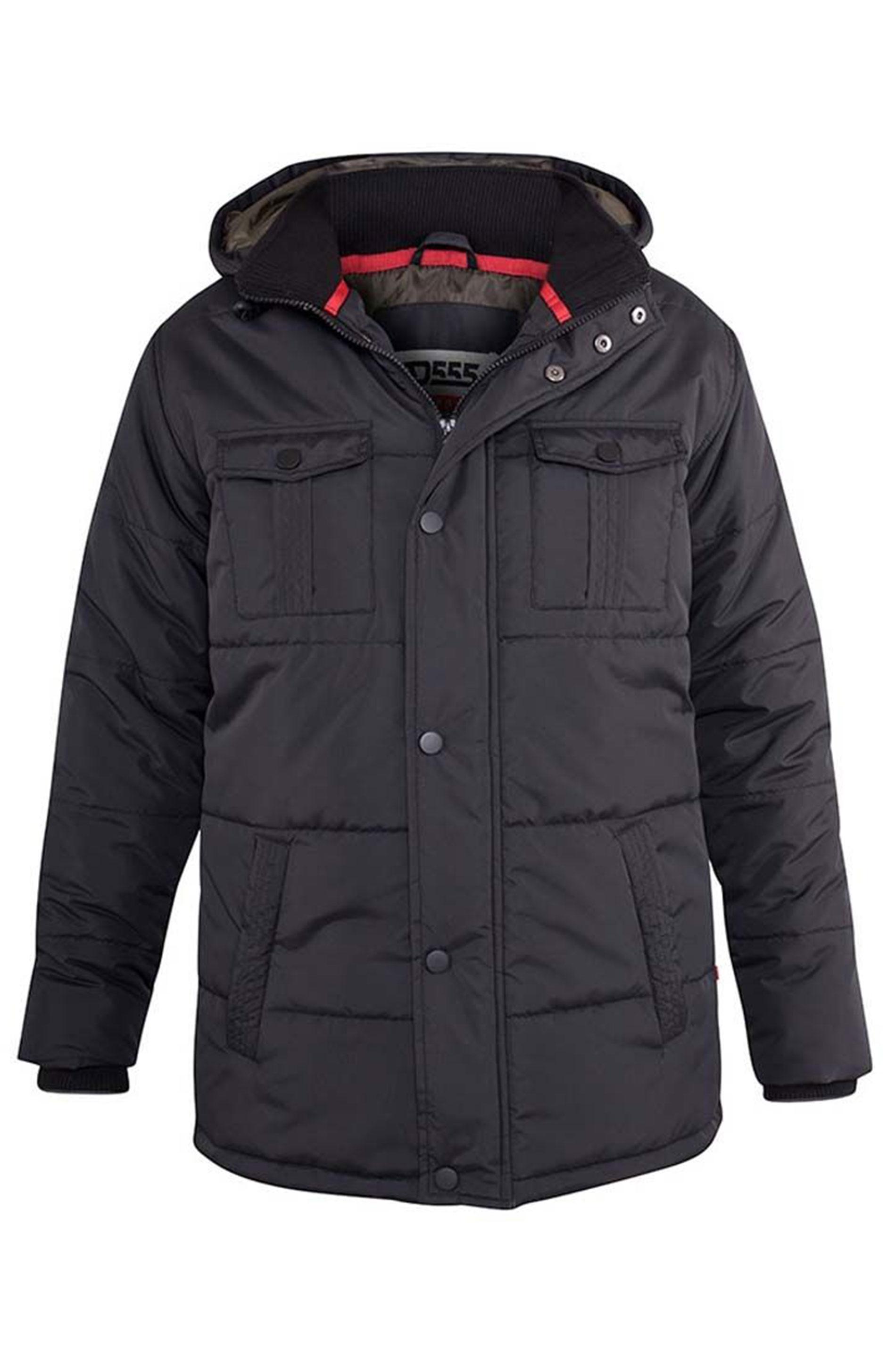 D555 Black Lonsdale Parka Jacket