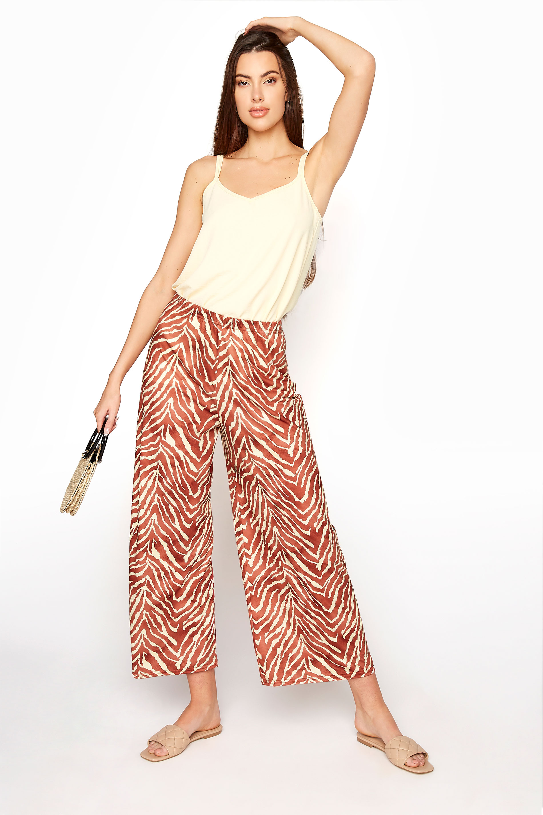 LTS Rust Zebra Print Wide Leg Culottes_A.jpg