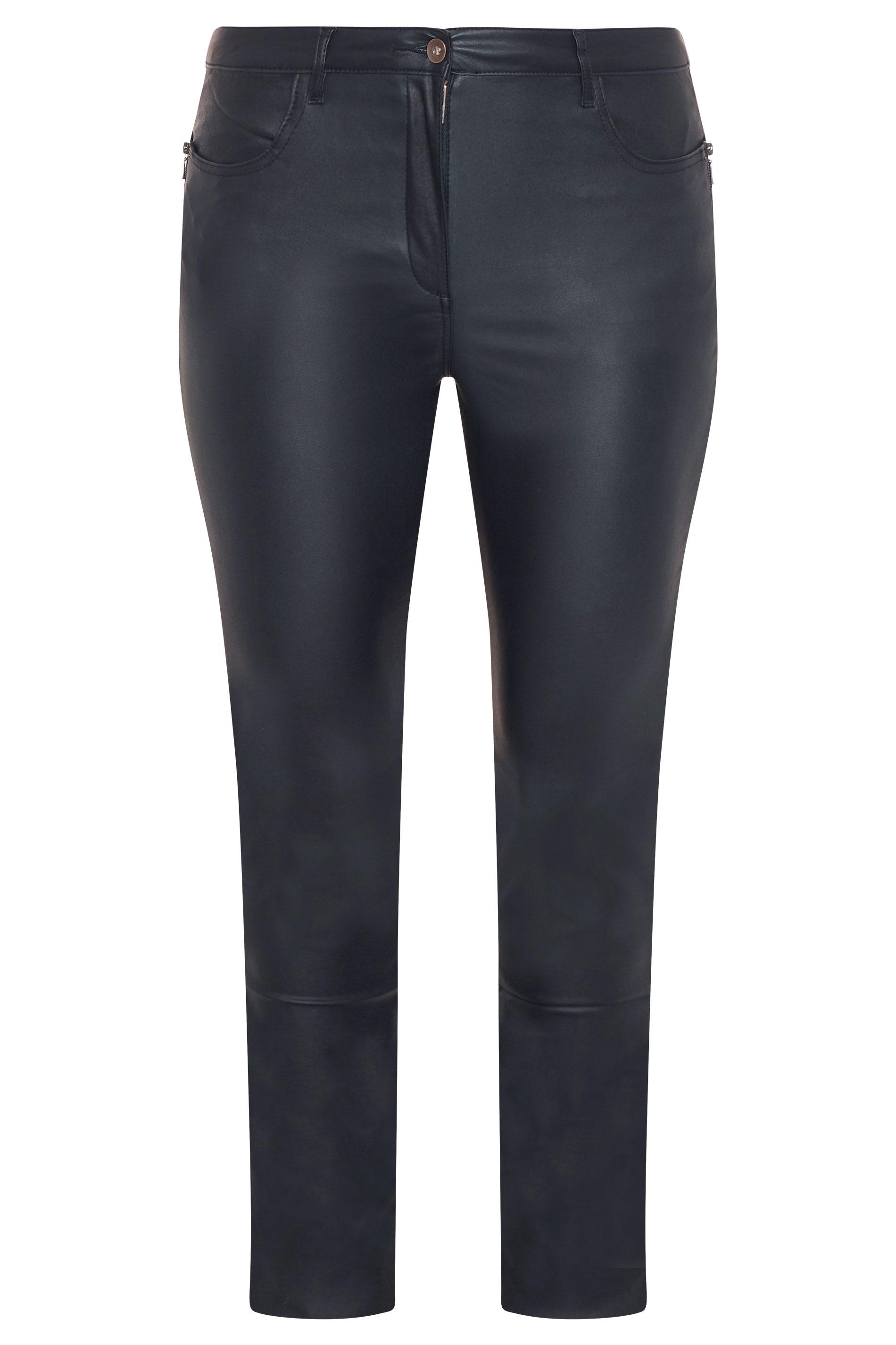 Navy Coated Slim Leg Jeans