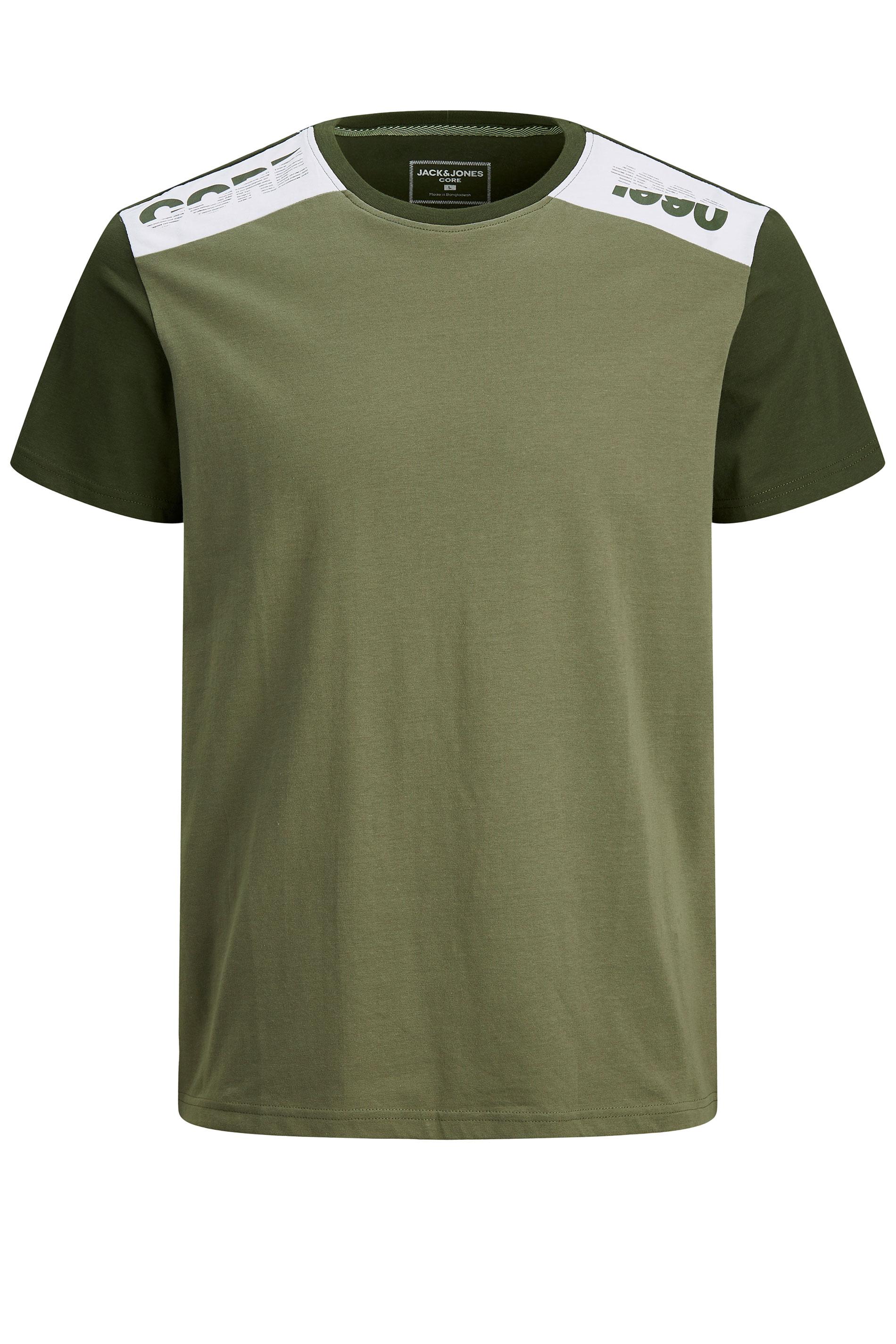 JACK & JONES Khaki Amin Crew Neck T-Shirt