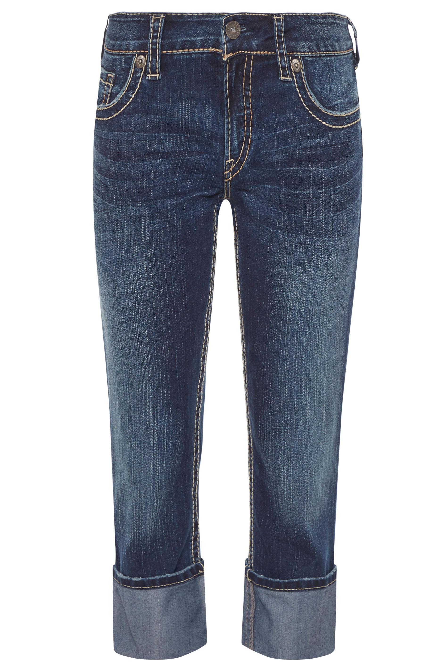SILVER JEANS Blue Denim Suki Capri Jeans