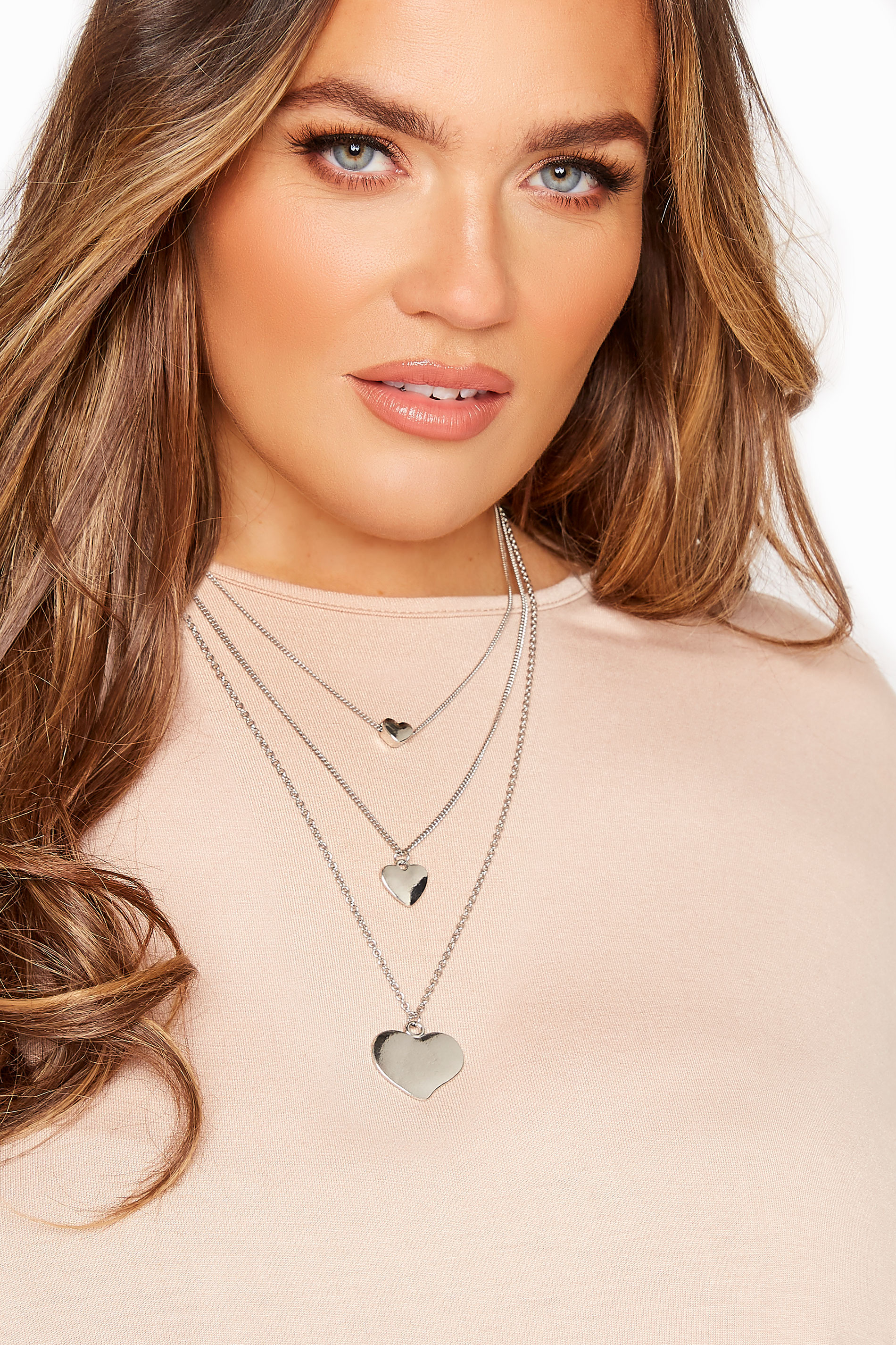 Yours Silver Heart Tiered Necklace