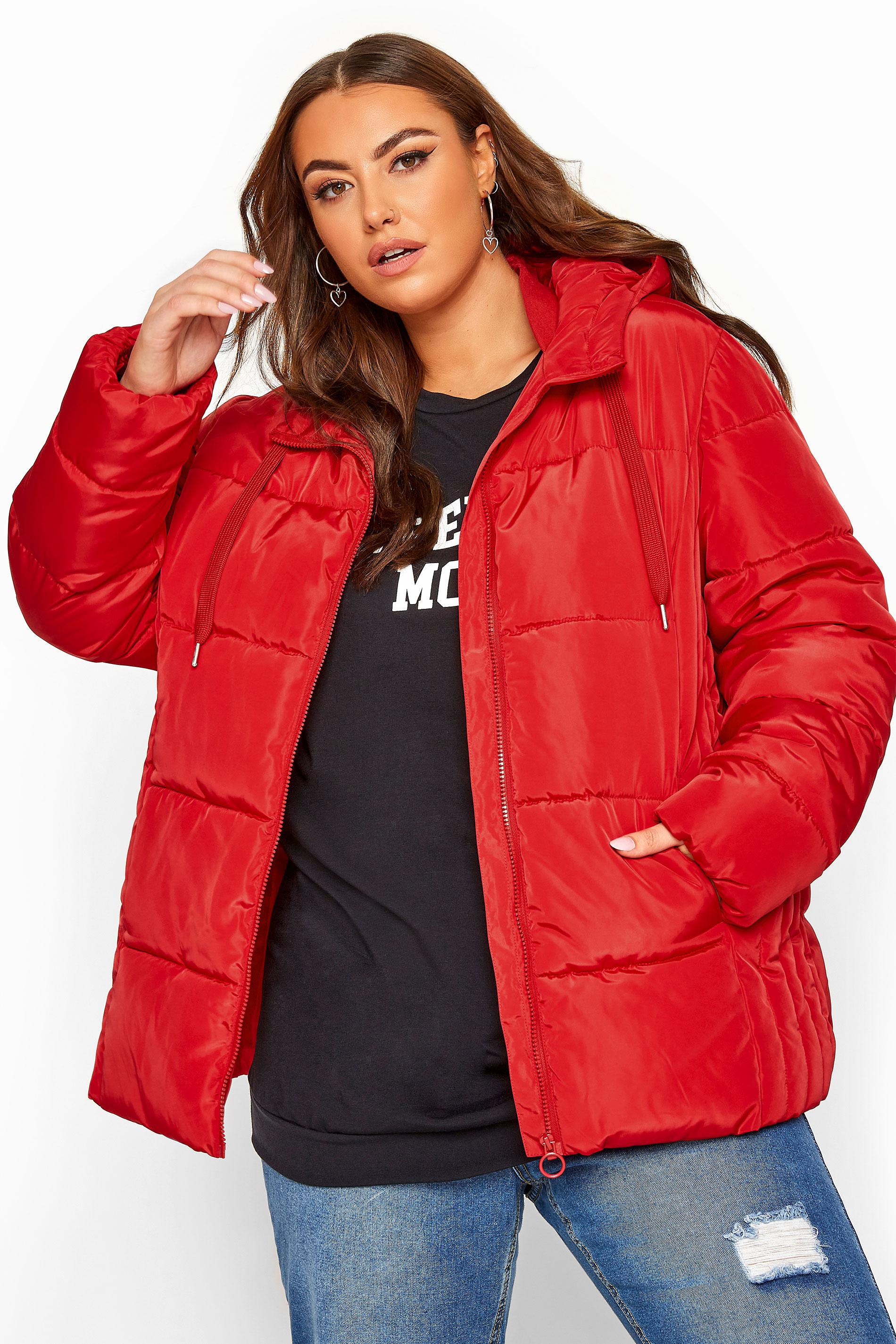 Red Short Puffer Coat