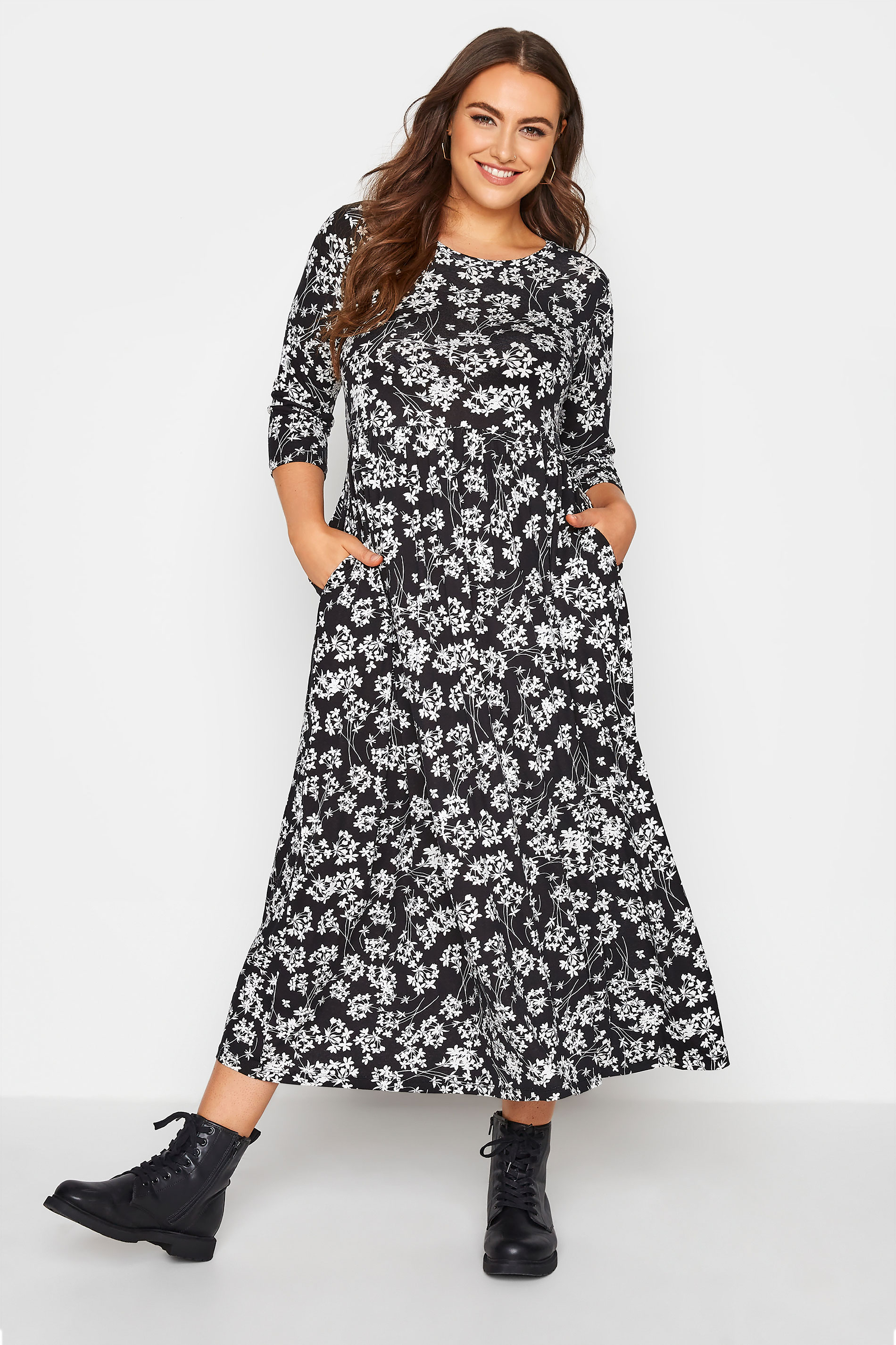 Black Floral Pocket Midaxi Dress_A.jpg