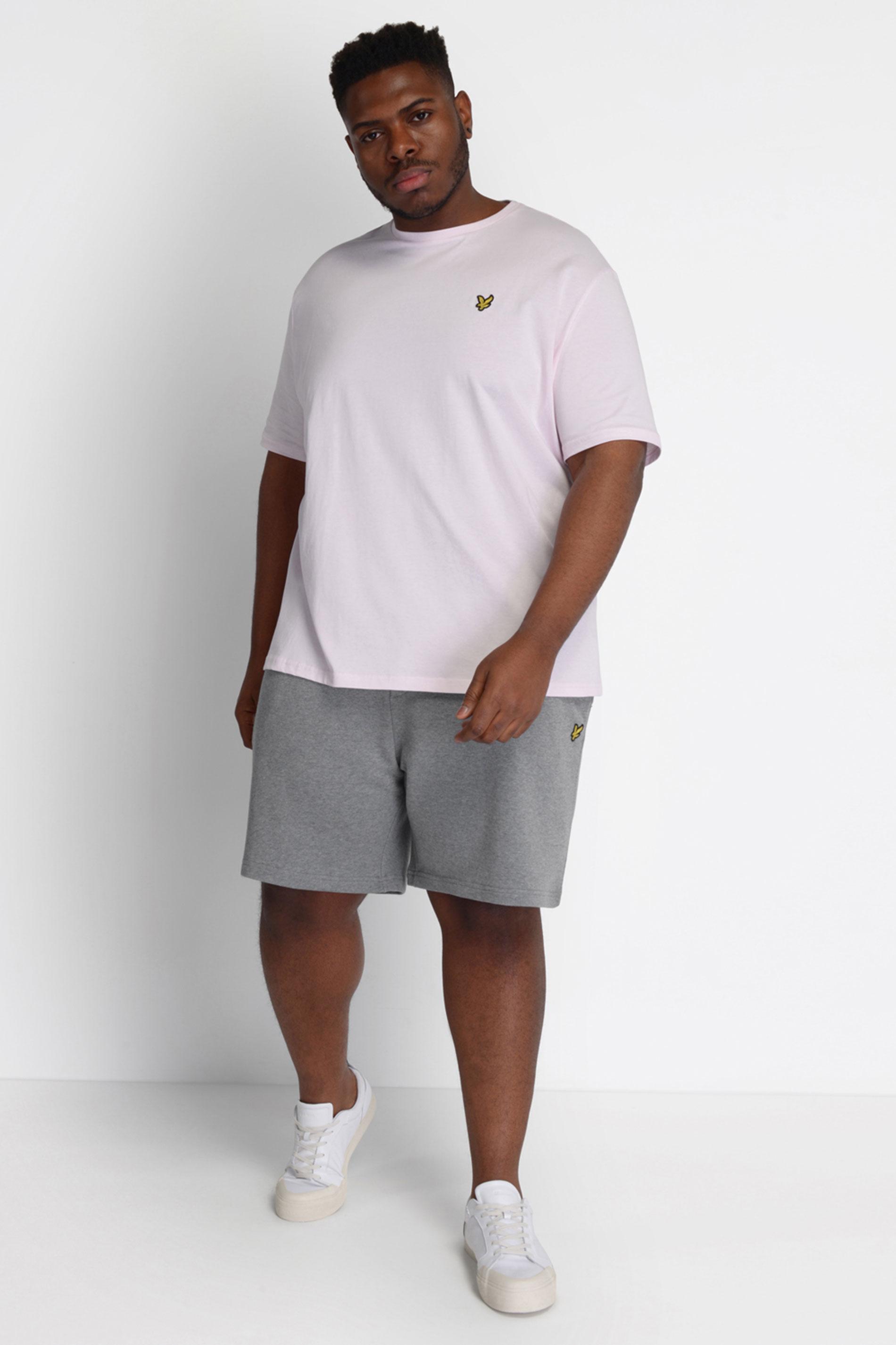 LYLE & SCOTT Grey Jogger Shorts_B.jpg