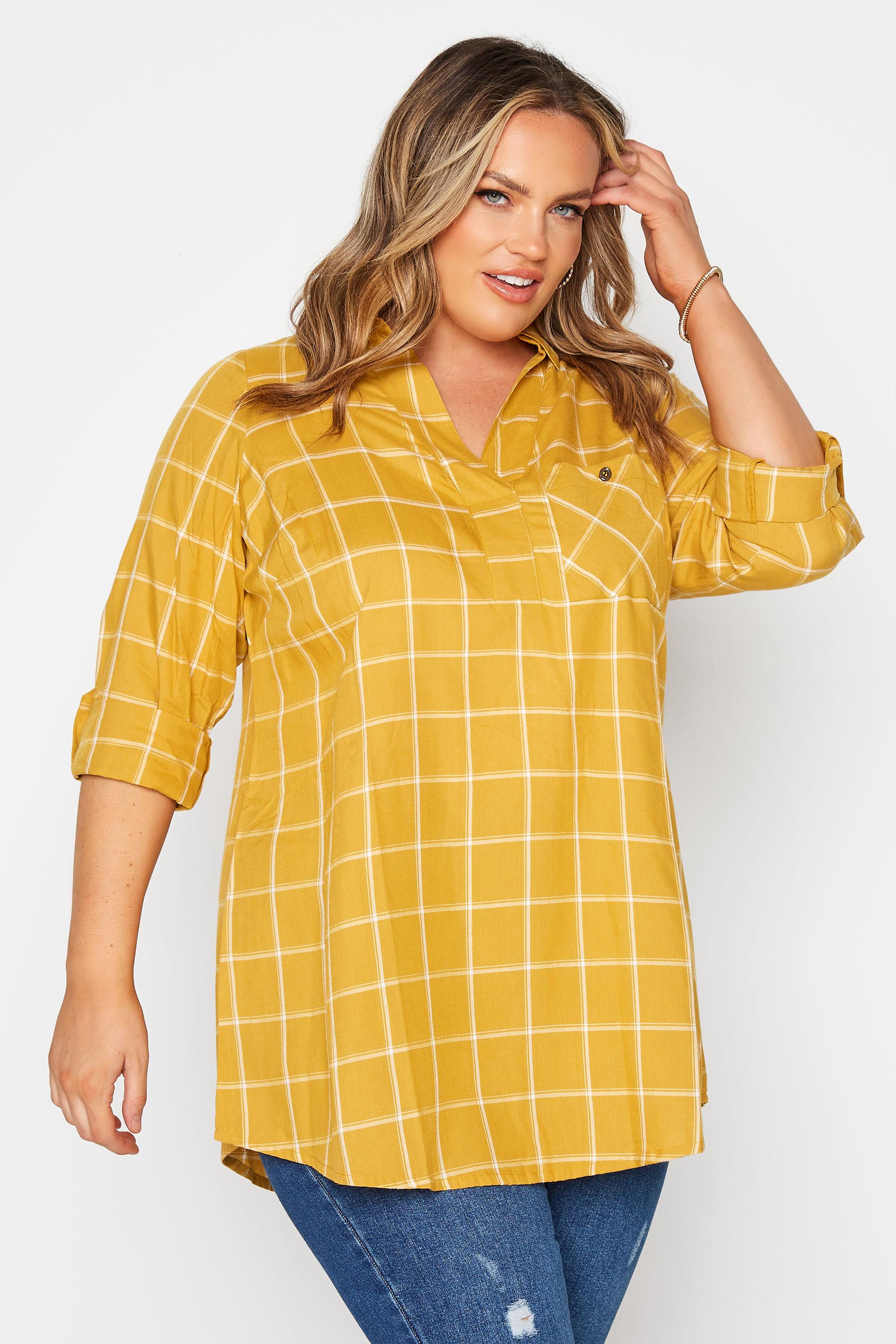 Mustard Yellow Overhead Check Shirt_A.jpg