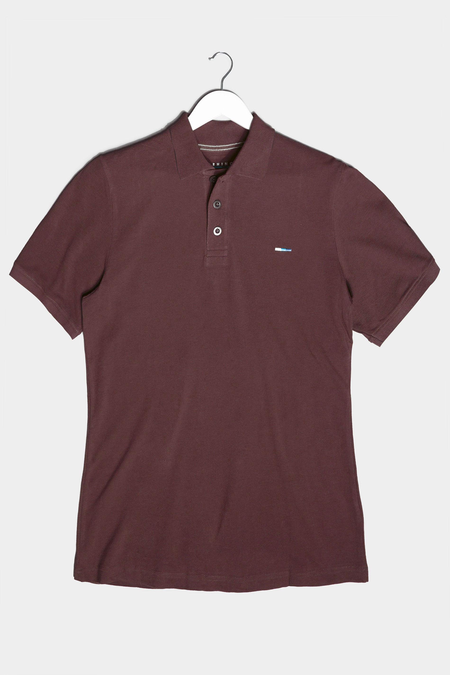 BadRhino Burgundy Essential Polo Shirt