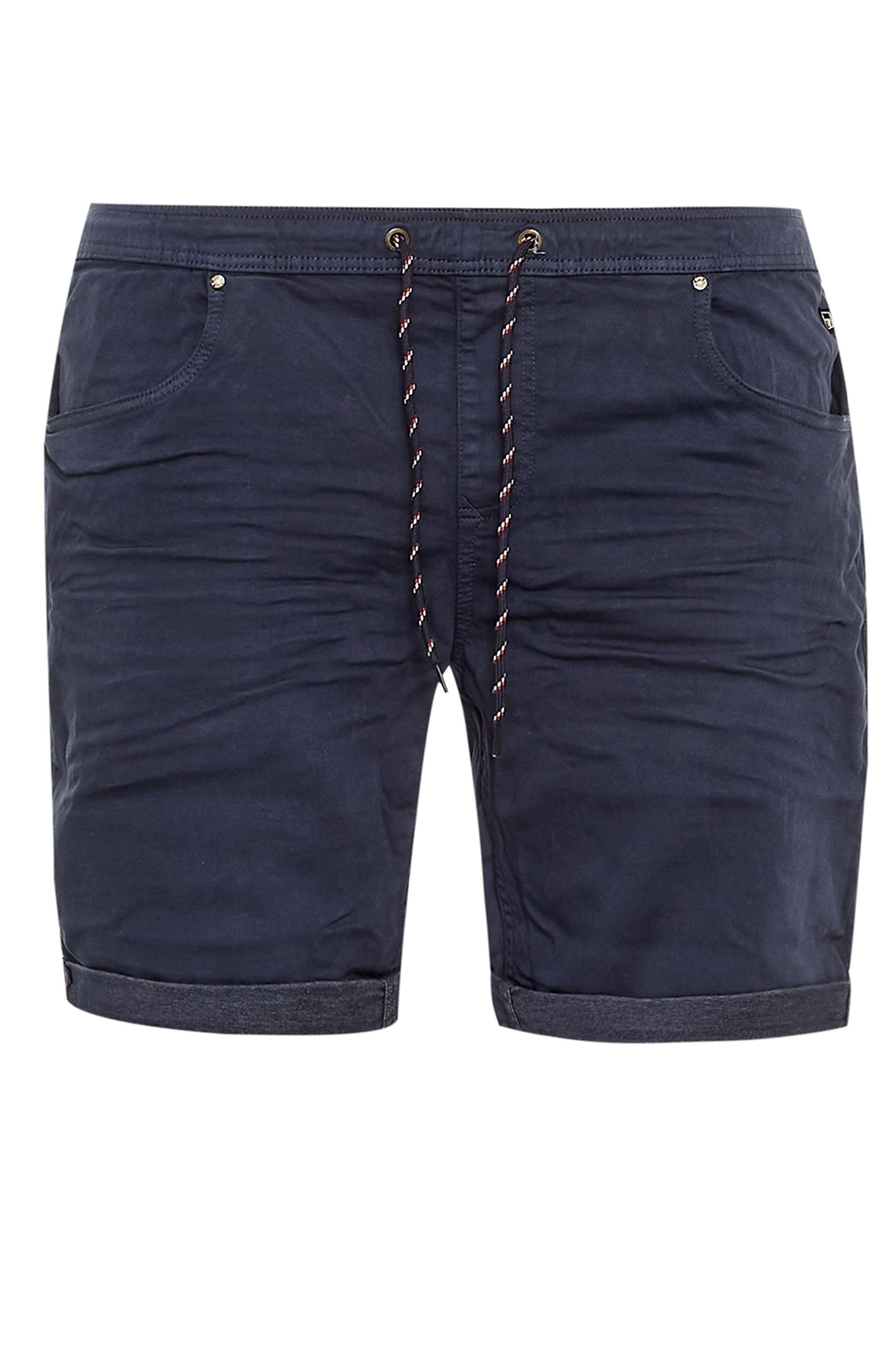 BLEND Blue Elasticated Denim Shorts