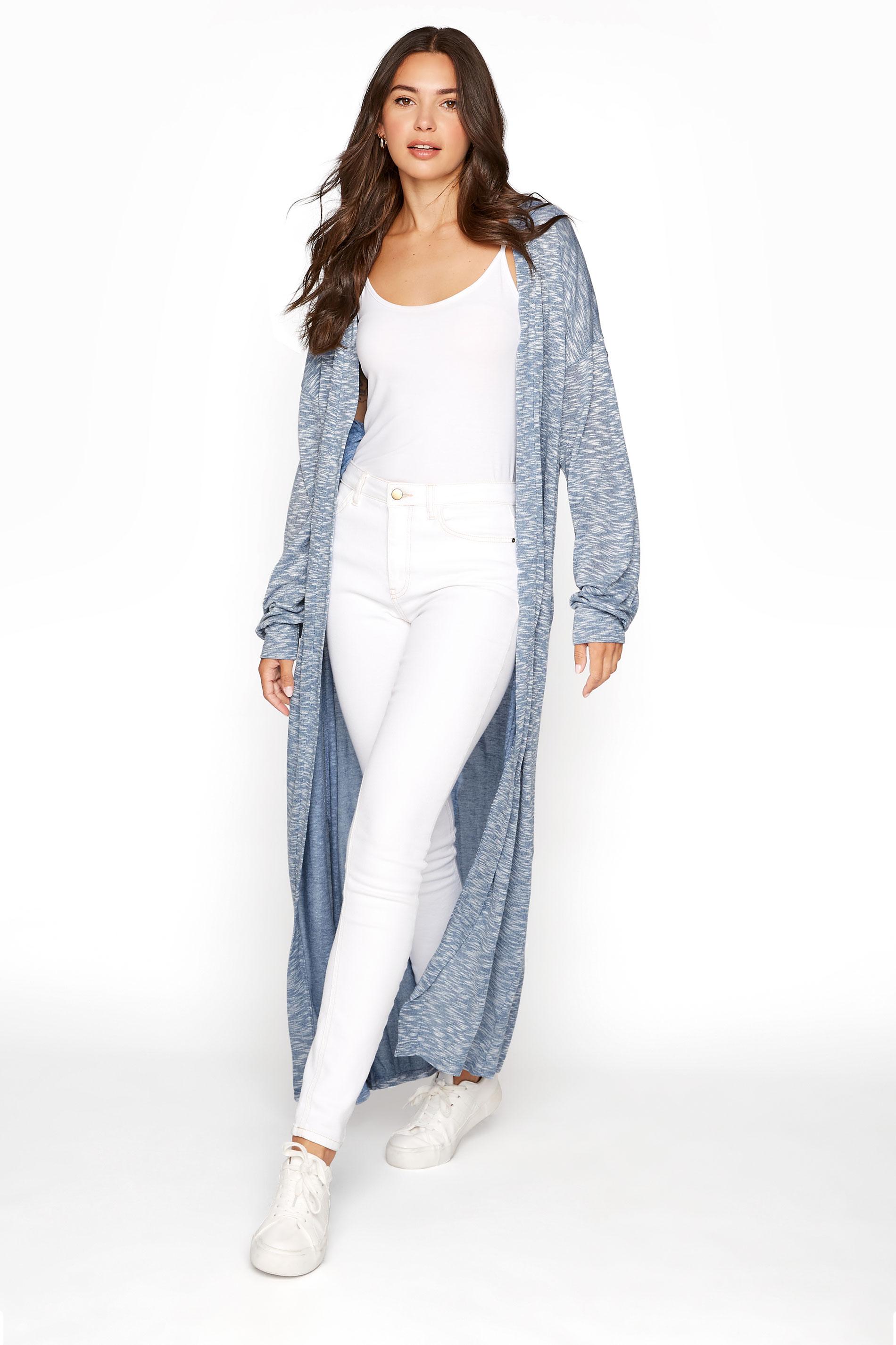 LTS Blue Marl Longline Cardigan