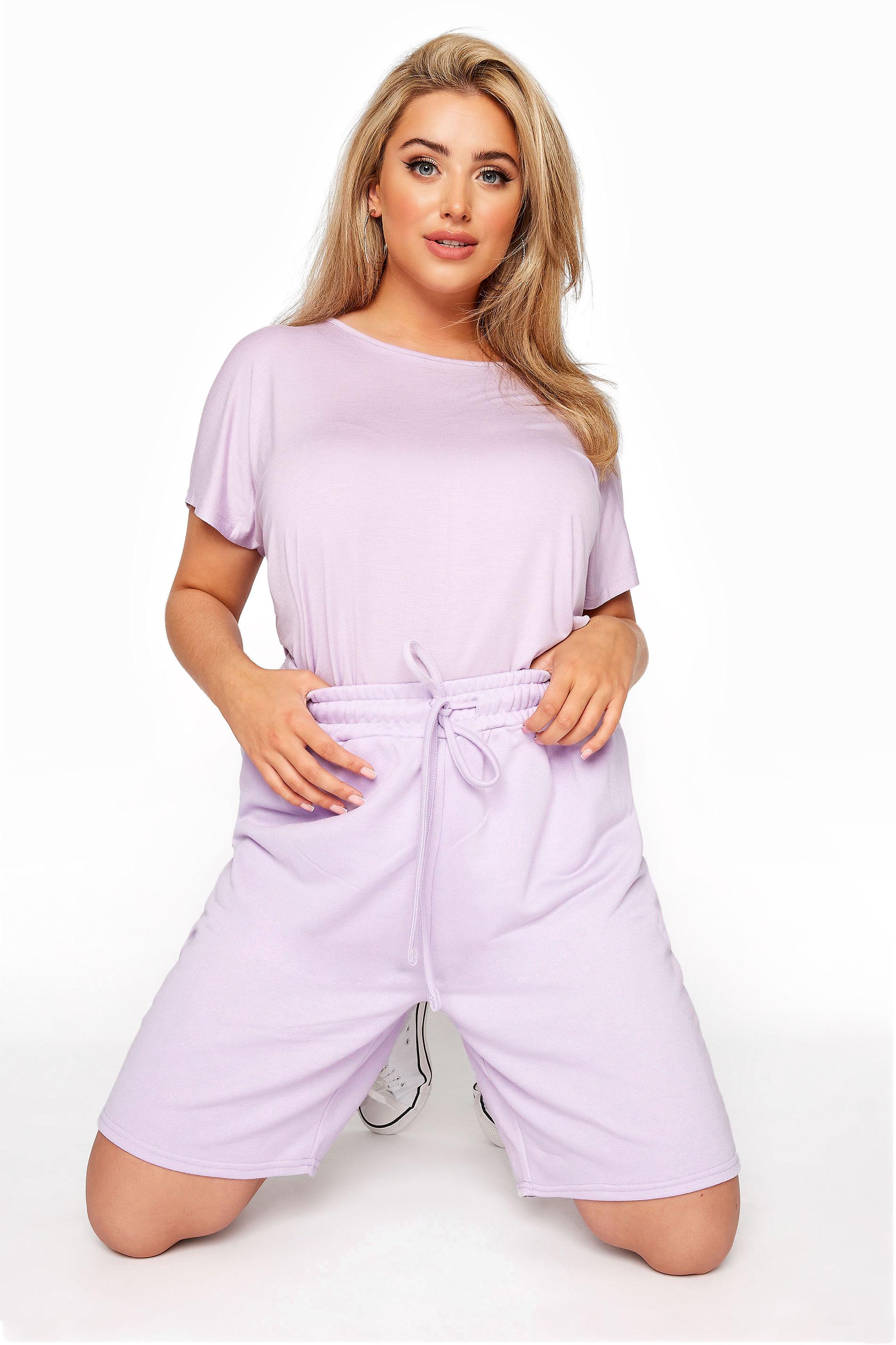 Lilac Jersey Jogger Shorts_A.jpg