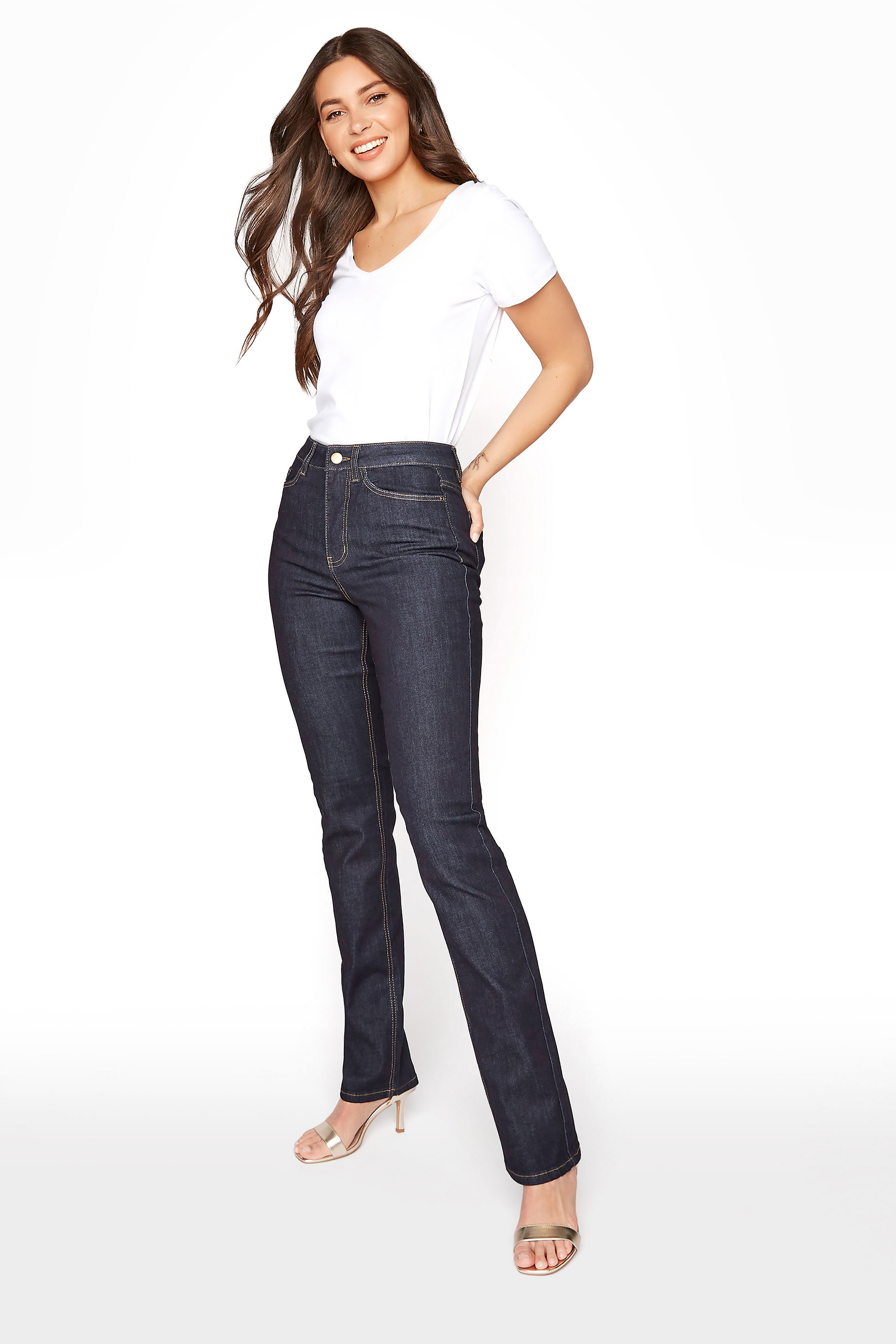 Indigo Blue Straight Leg Denim Jeans