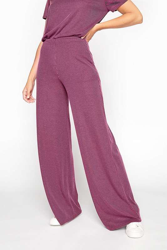 LTS Pink Two-Tone Ribbed Wide Leg Trousers_moire.jpg