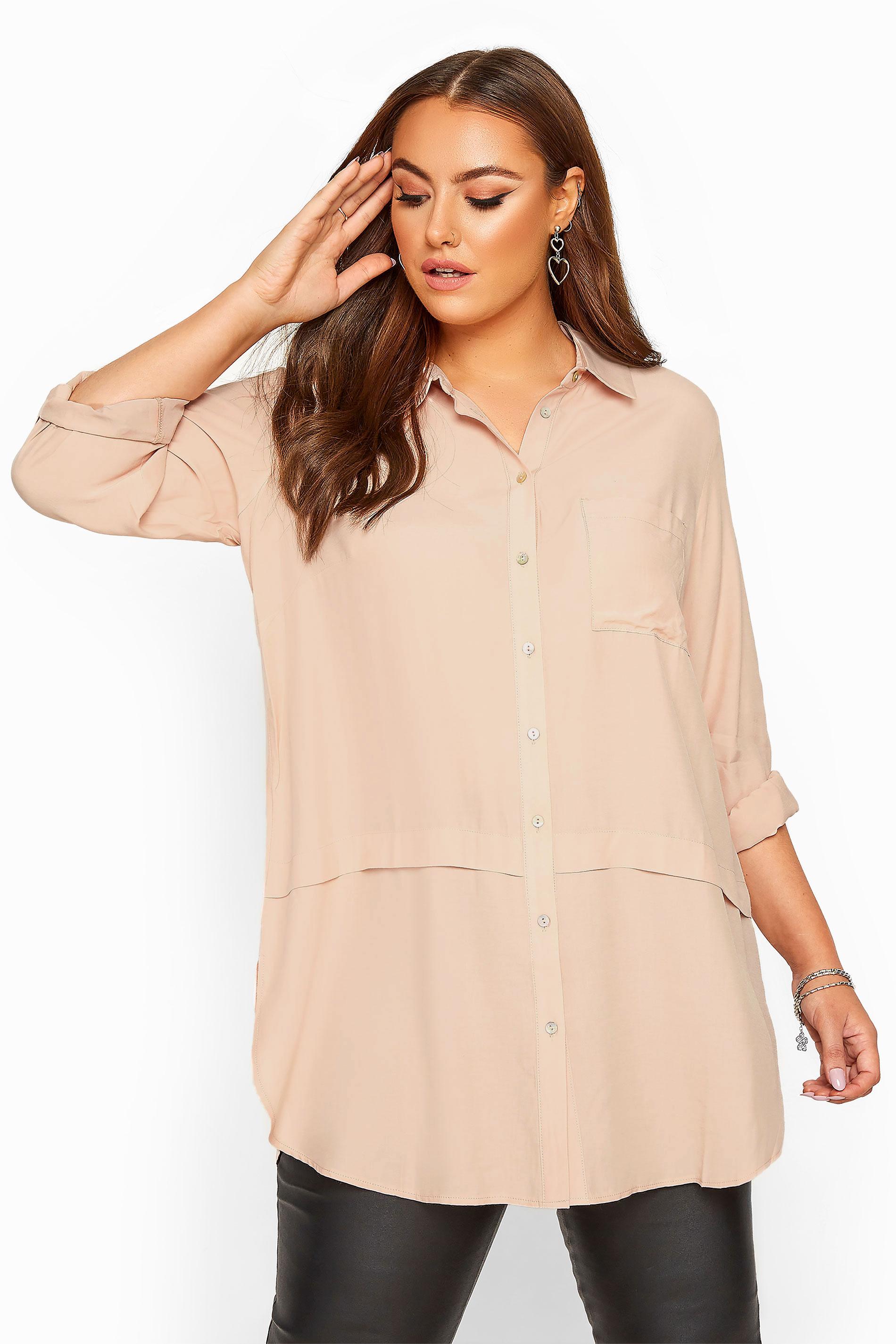 Pastel Pink Longline Shirt