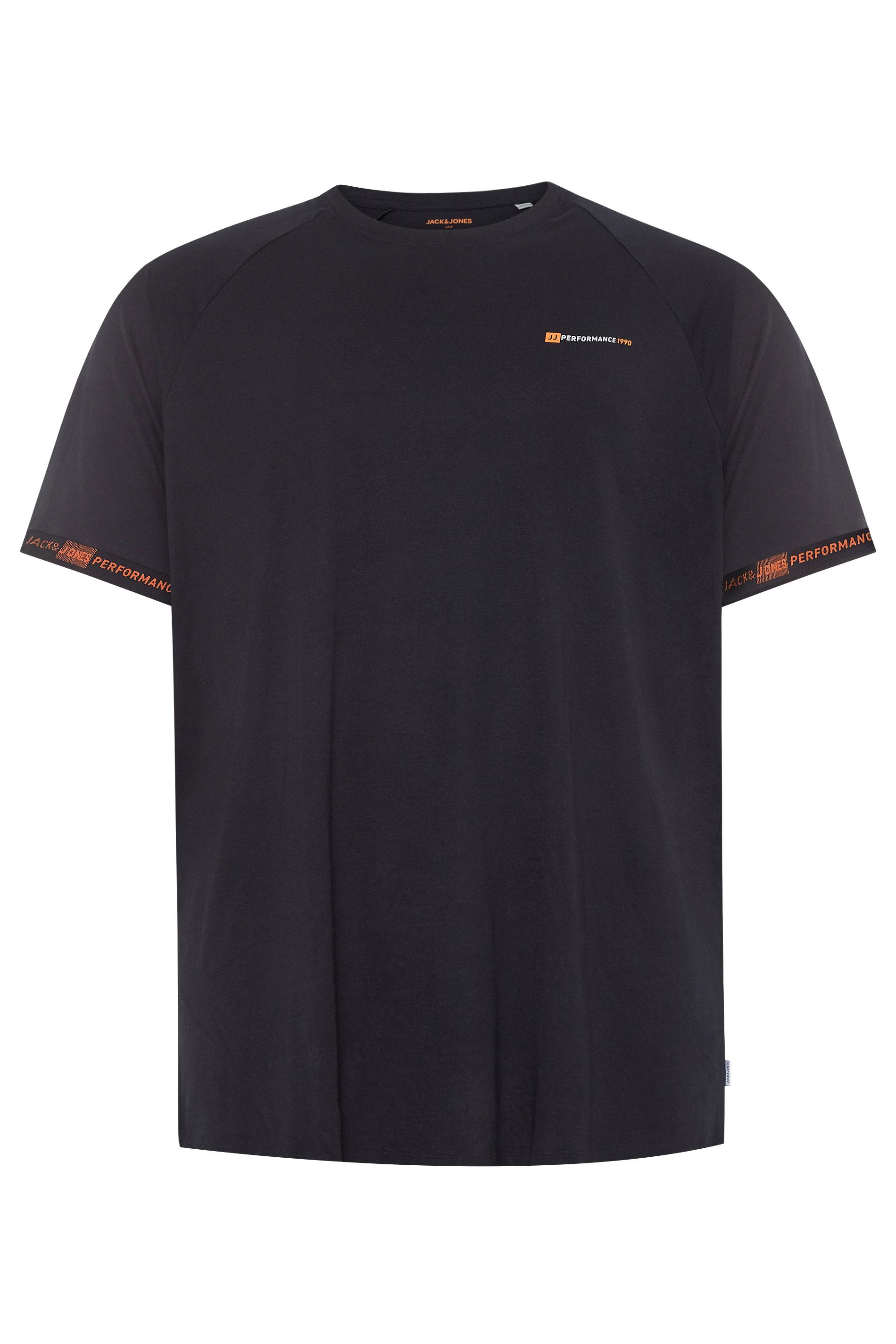 JACK & JONES Black Finn Performance T-Shirt