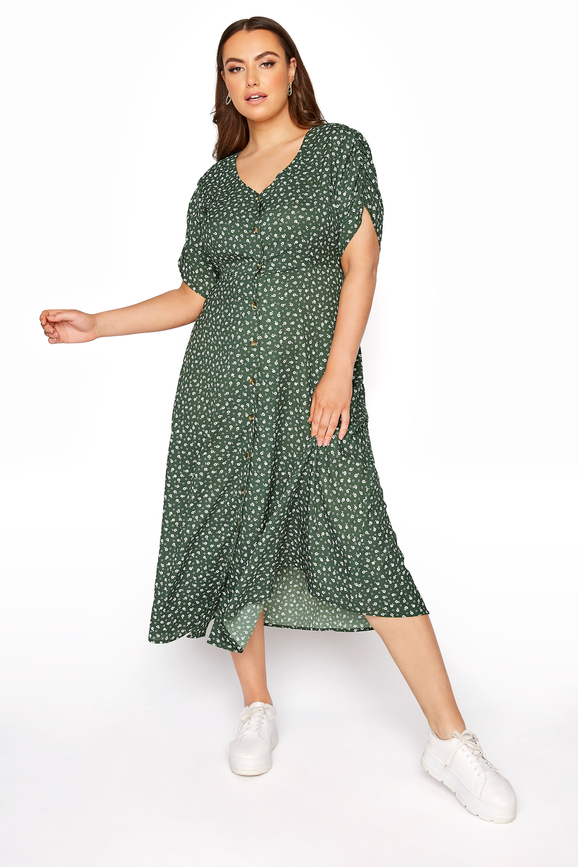 LIMITED COLLECTION Sage Ditsy Maxi Tea Dress