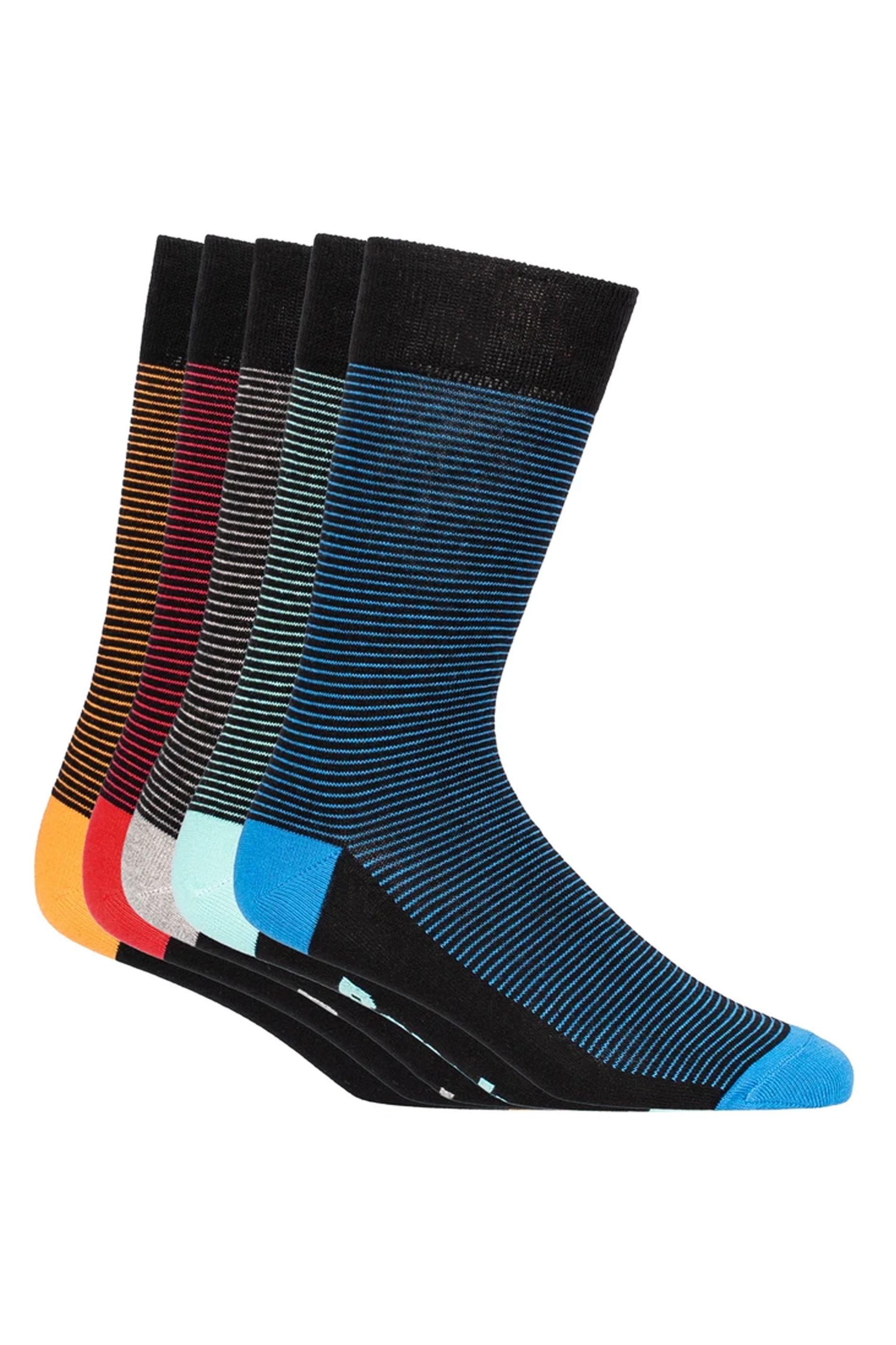 BENCH 5 PACK Multi Stripe Inca Crew Socks