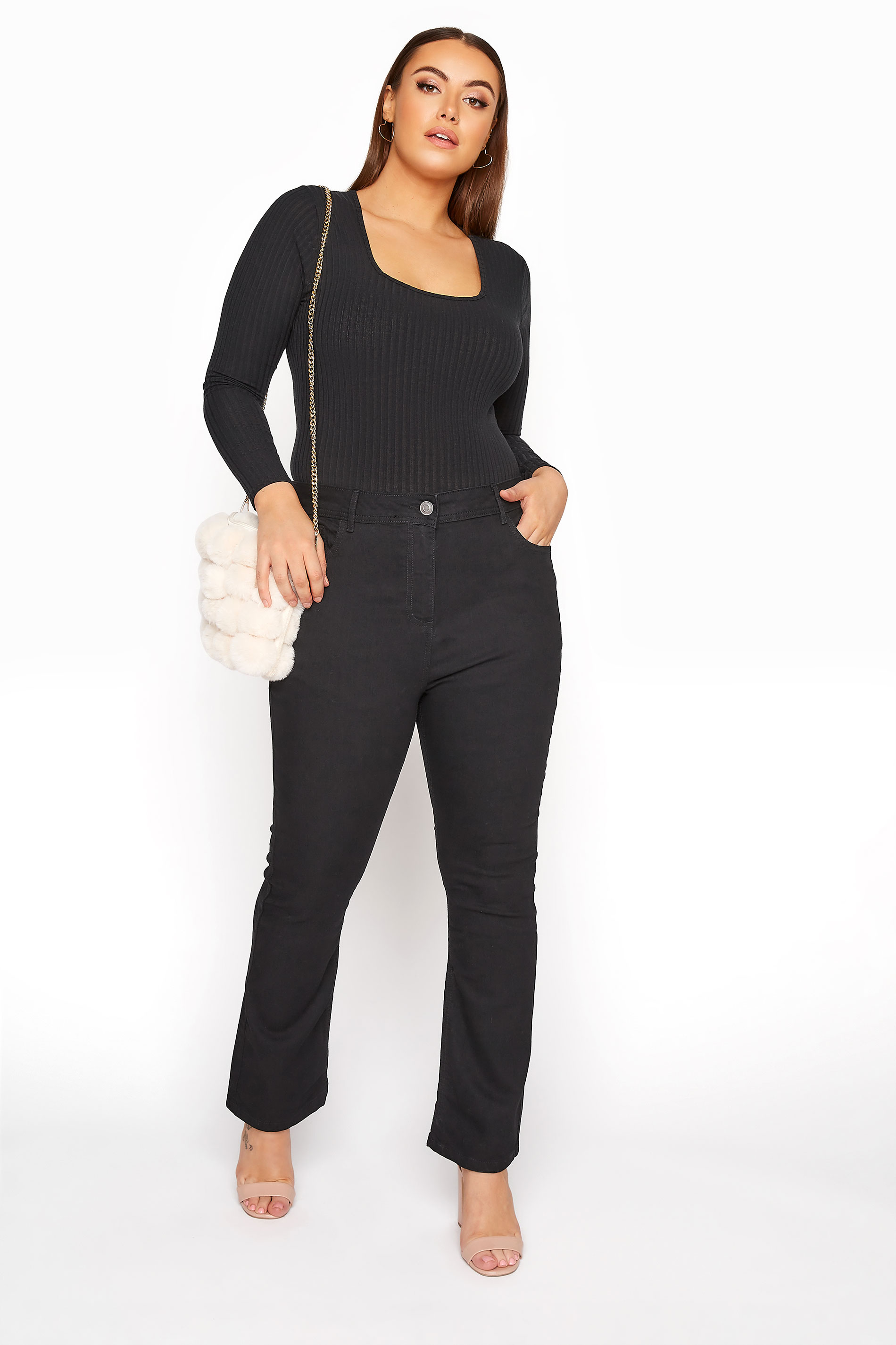 Black Bootcut ISLA Jeans How To Dress Pear Shaped Body