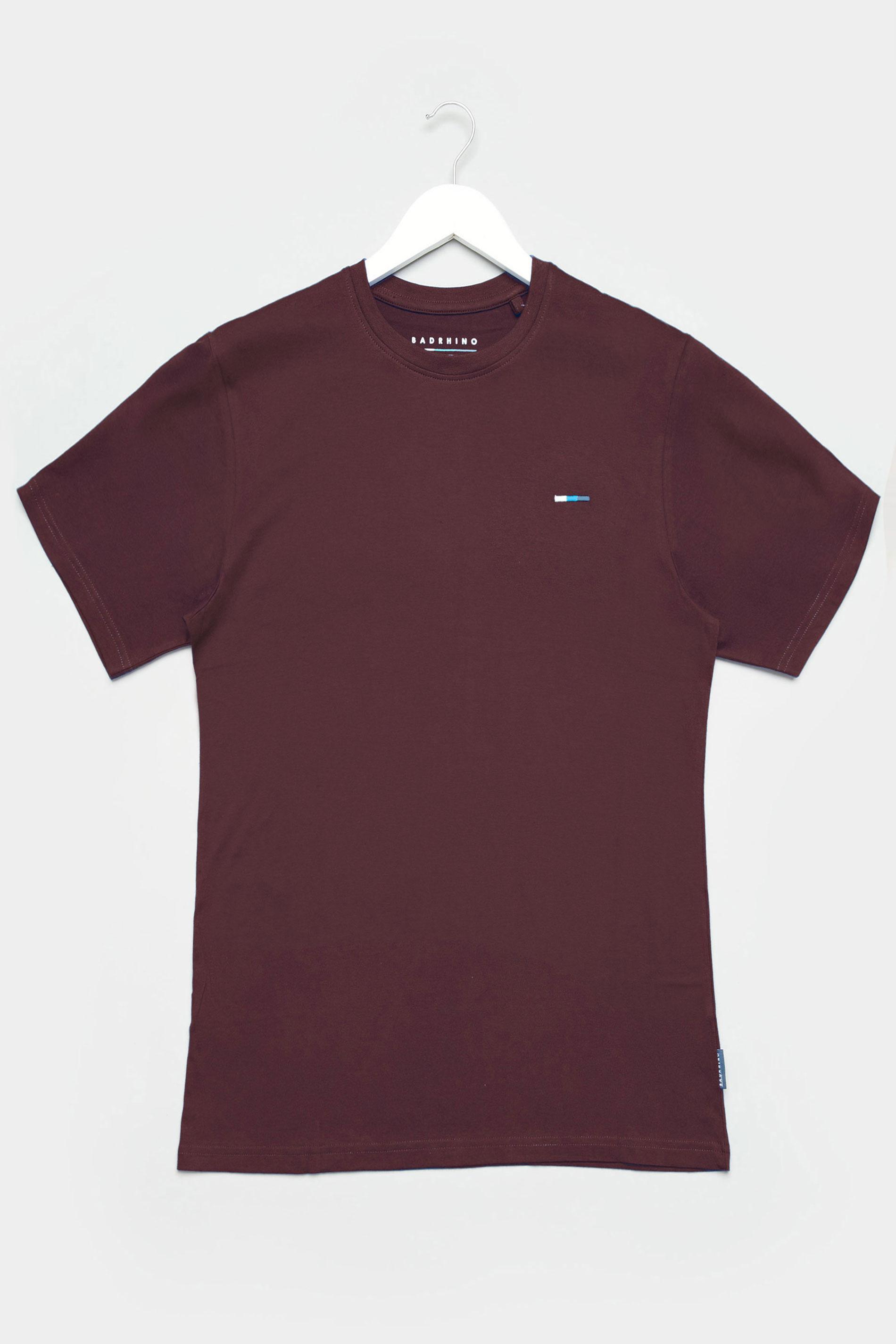 BadRhino Burgundy Plain T-Shirt