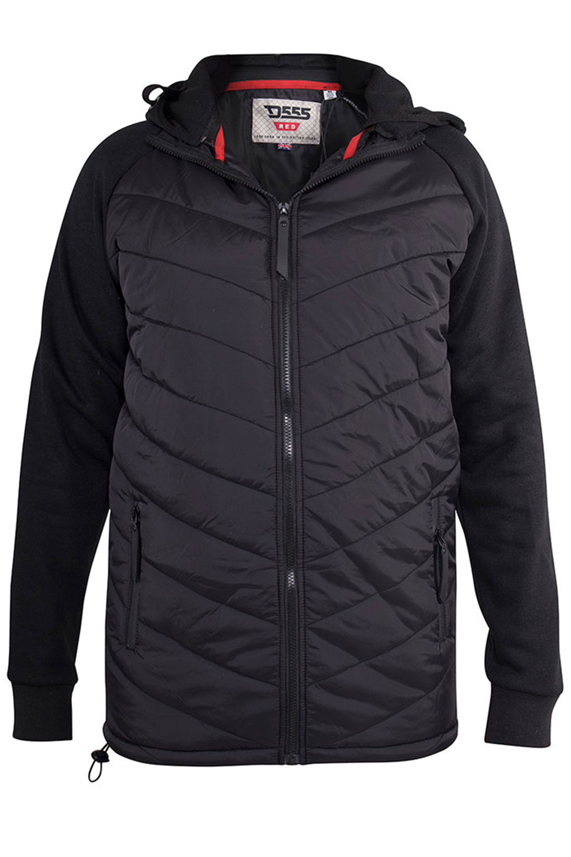 D555 Black Thorpe Quilted Jacket