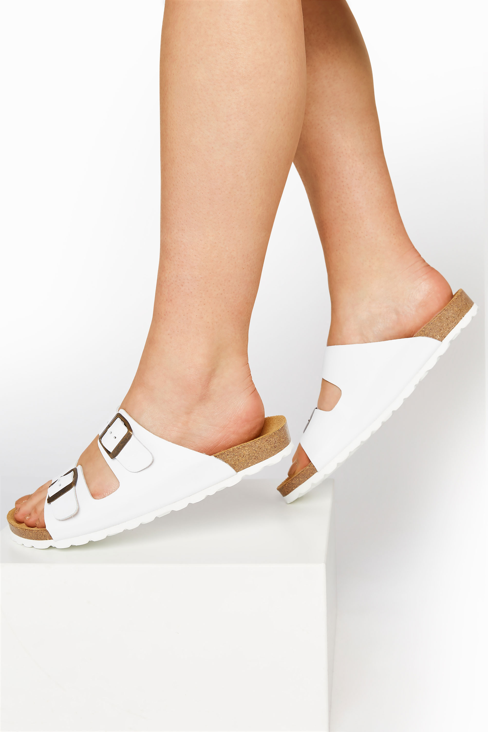 White Leather Two Buckle Footbed Sandals_M.jpg