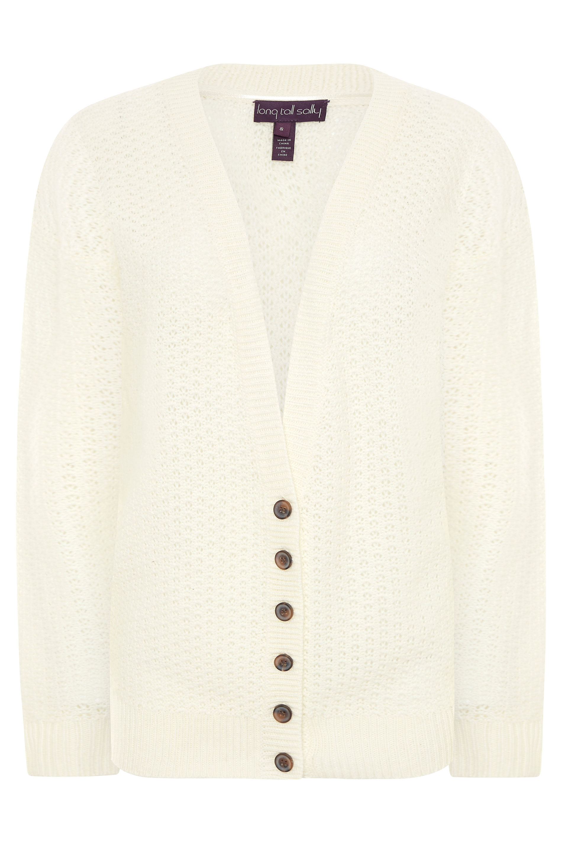 Cream Stitch Knitted Cardigan