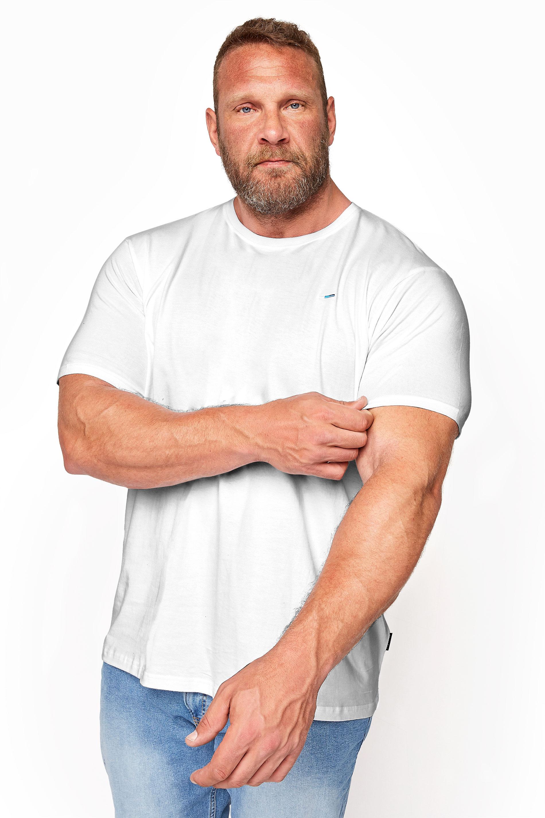 BadRhino White Plain T-Shirt