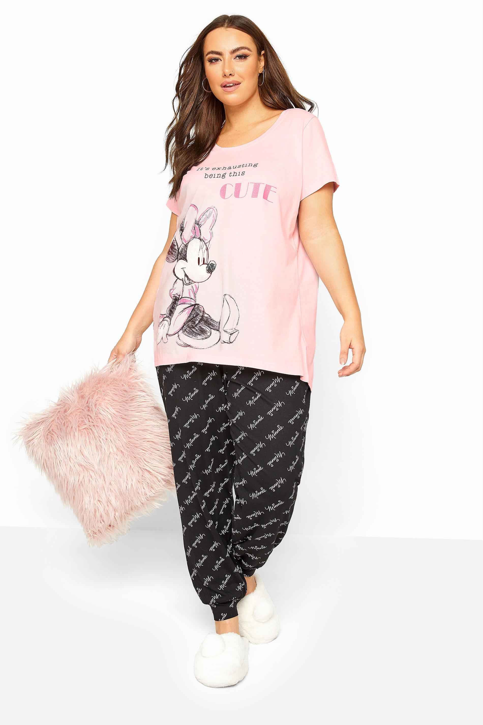Pink Disney Minnie Mouse Pyjama Set