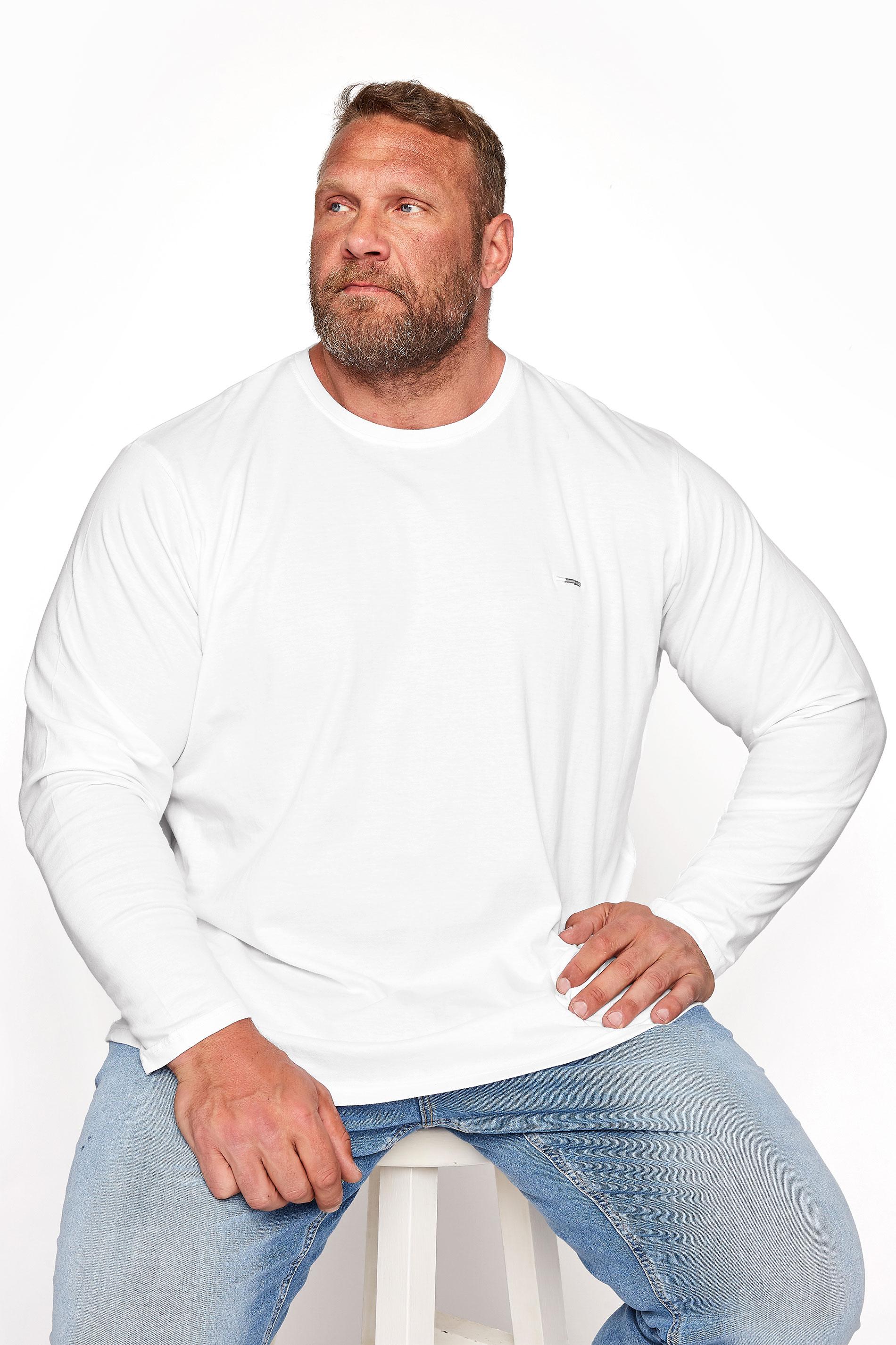 BadRhino White Plain Long Sleeve T-Shirt_M.jpg