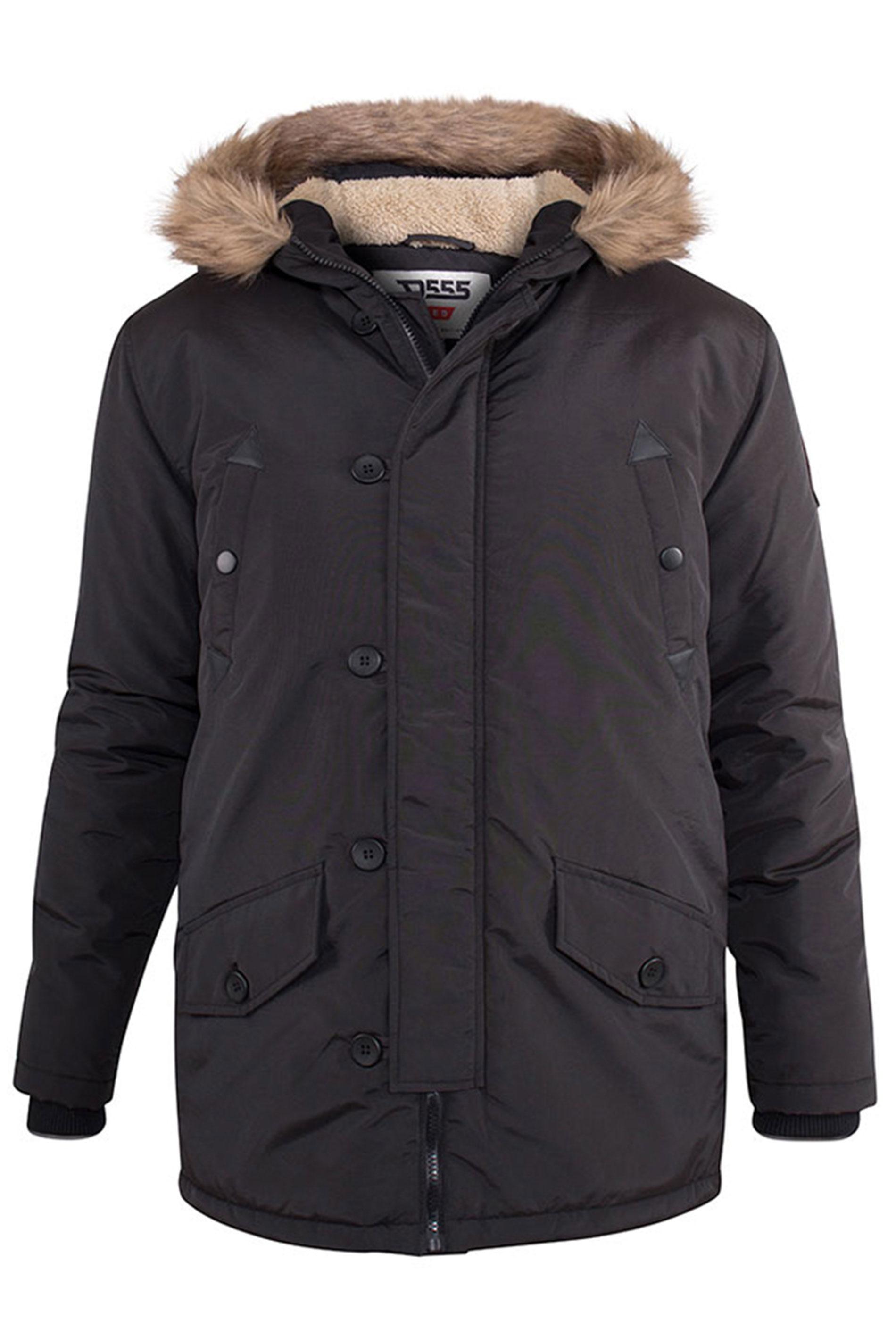 D555 Black Dundee Parka Jacket