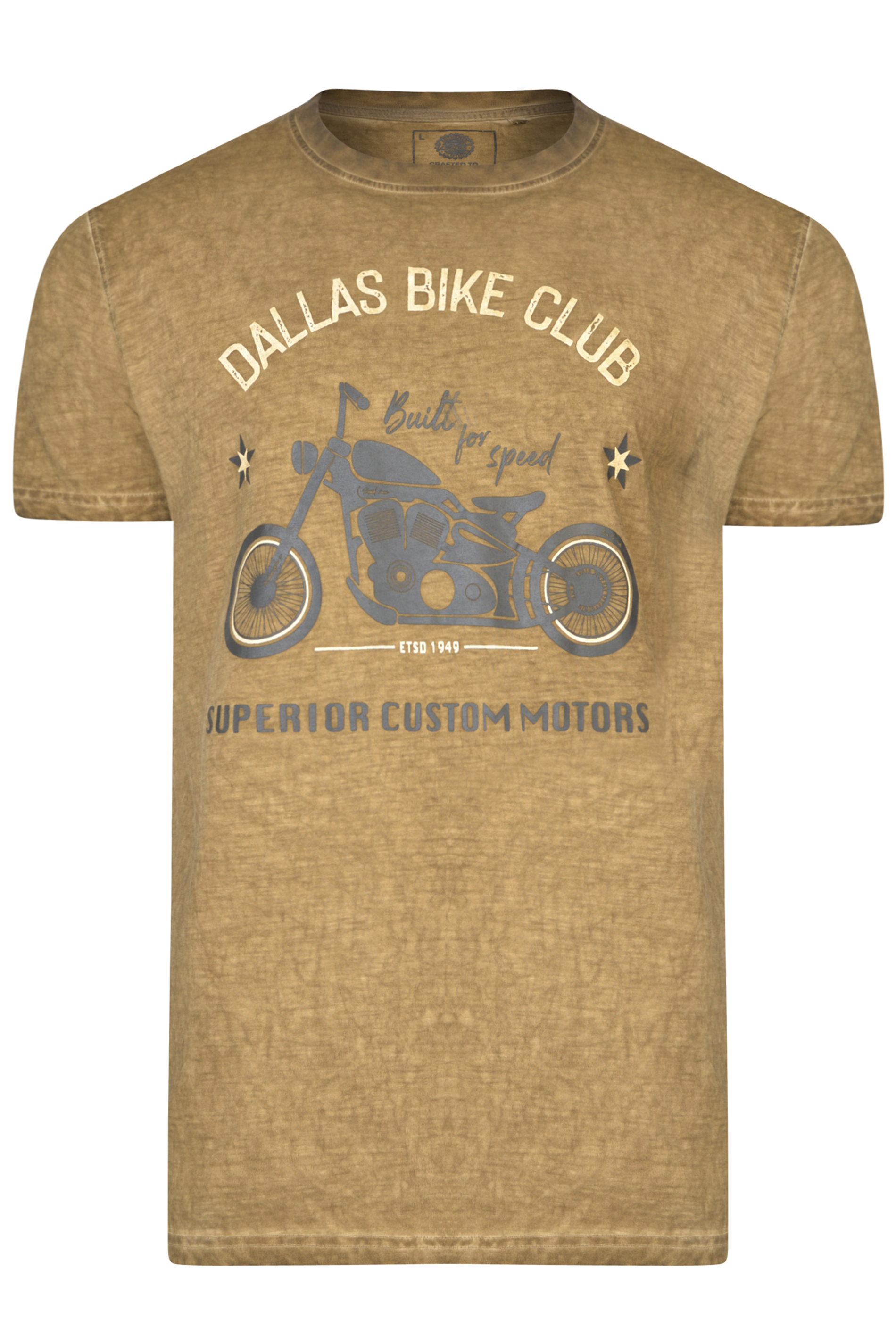 KAM Khaki 'Dallas Bike Club' T-Shirt