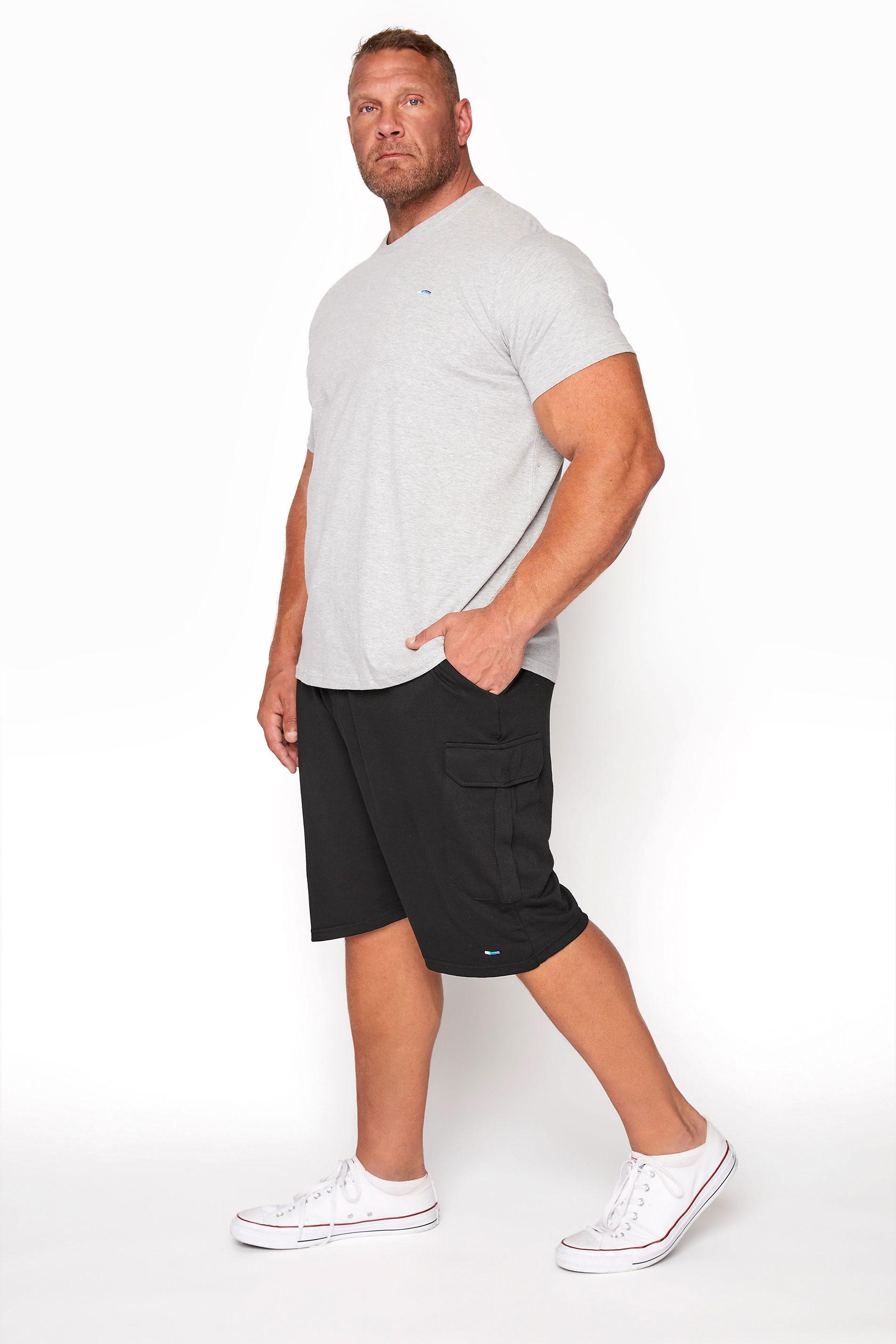 BadRhino Black Essential Cargo Jogger Shorts