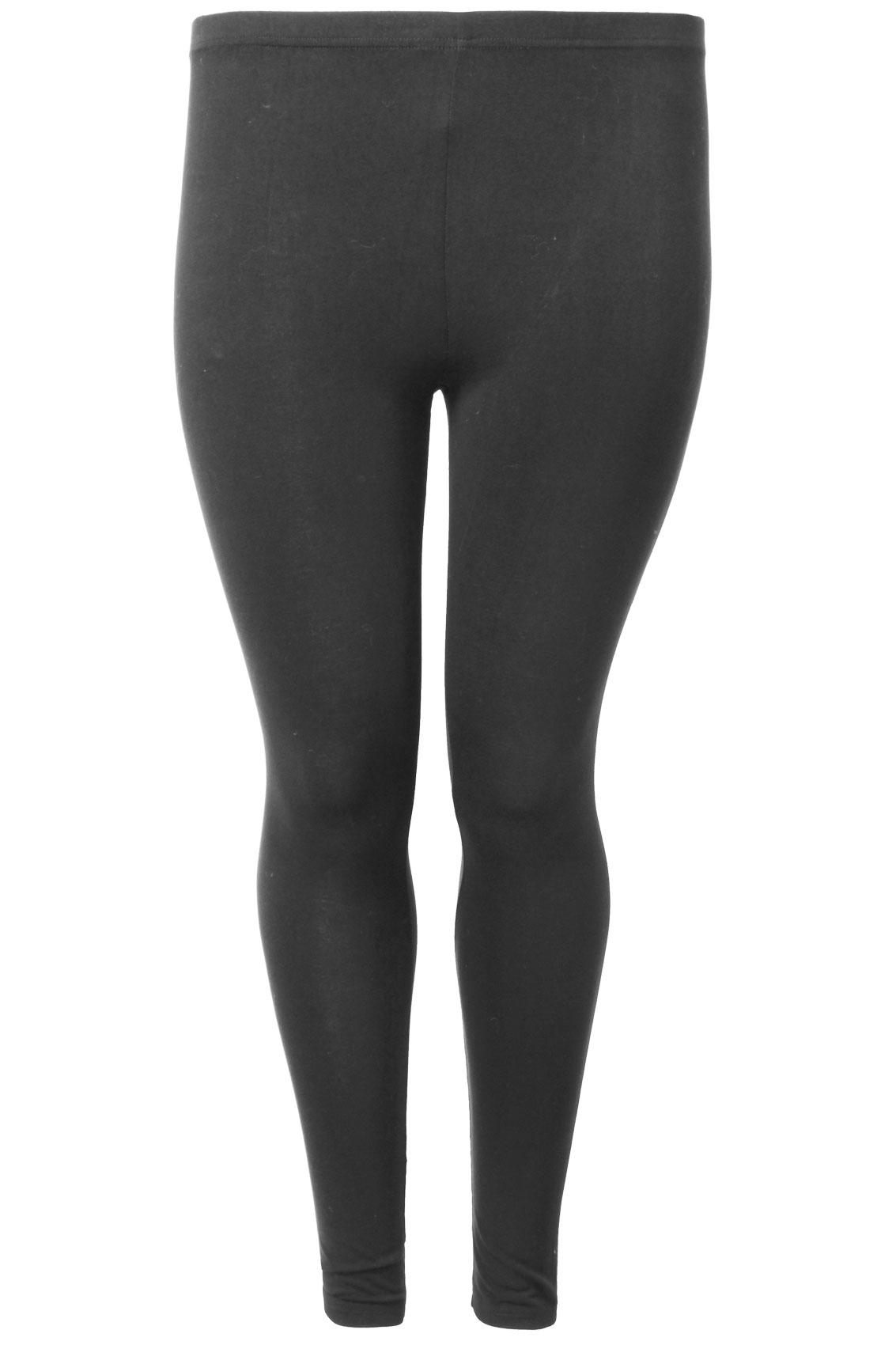 Brown Viscose Elastane Leggings Plus Sizes: 16,18,20,22,24