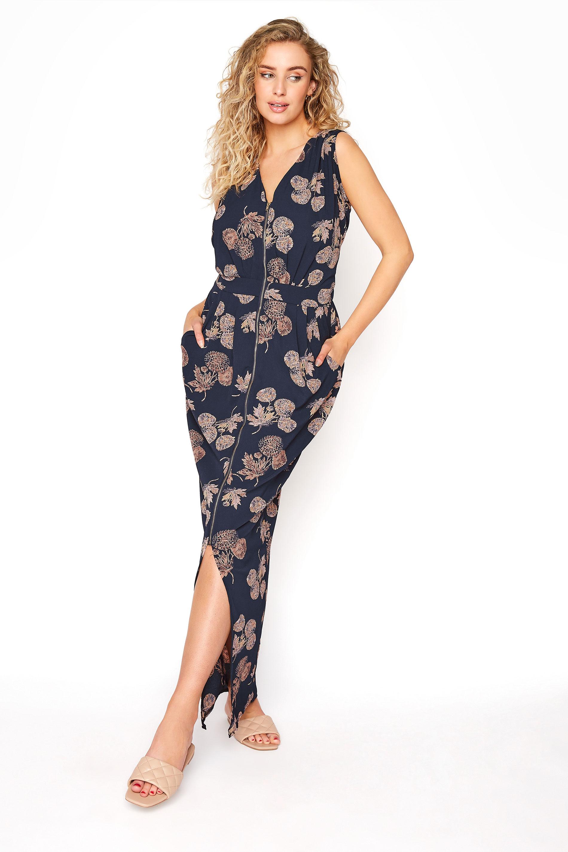 LTS Blue Zip Split Front Maxi Dress_A.jpg