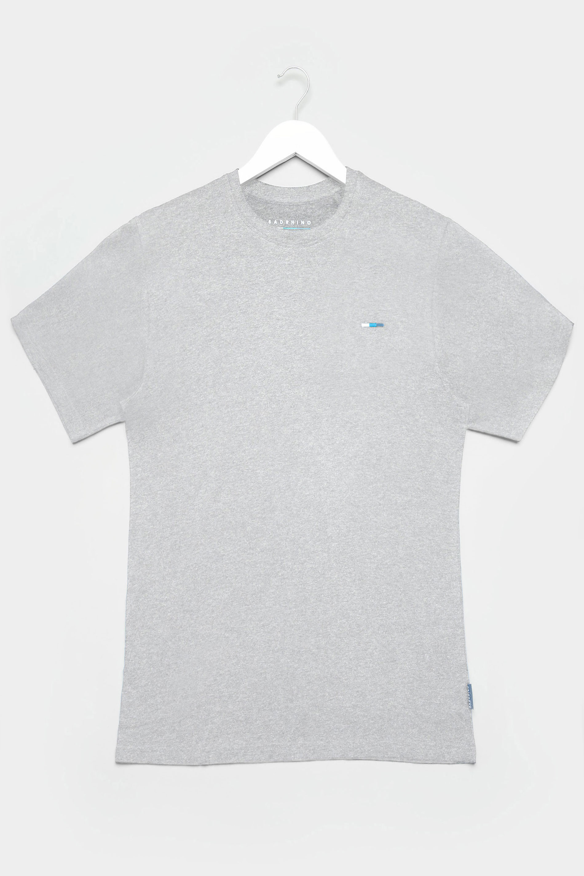 BadRhino Grey Marl Plain T-Shirt