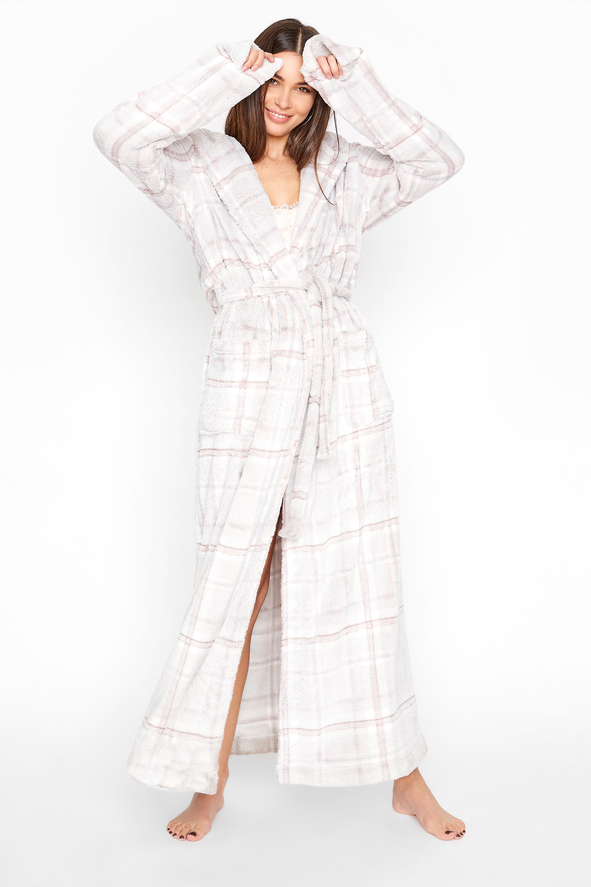 LTS Grey Check Dressing Gown