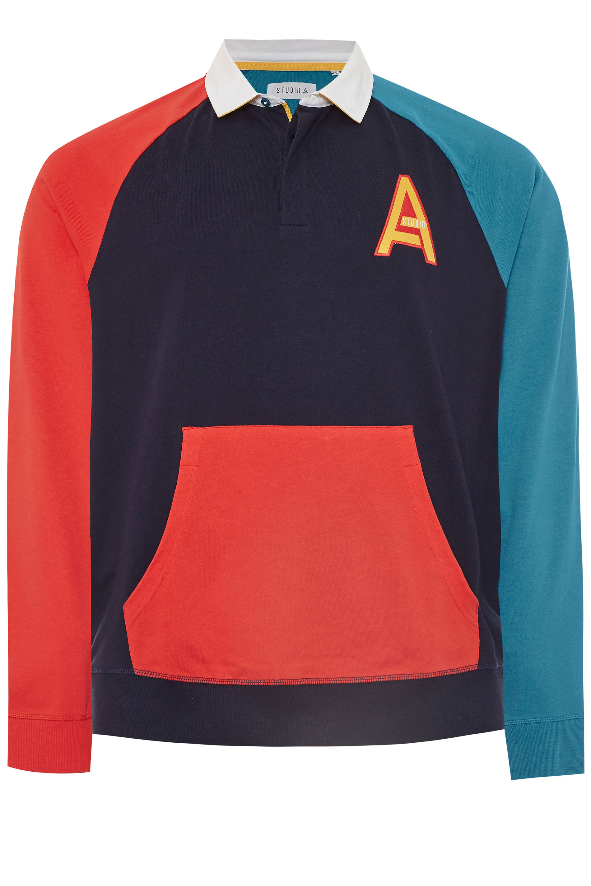 STUDIO A Multi Long Sleeve Rugby Shirt